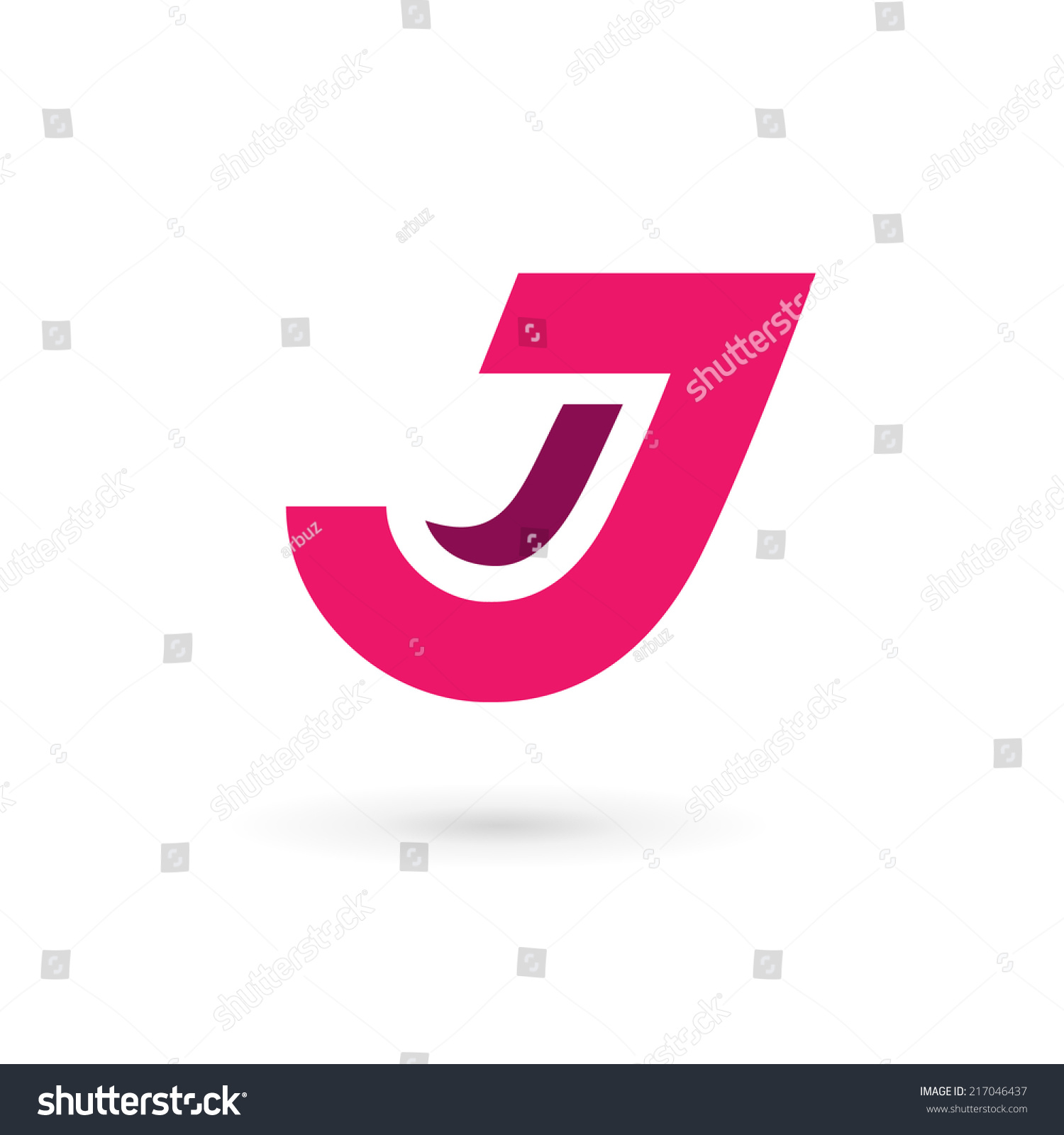 Letter J Logo Icon Design Template Stock Vector (Royalty Free ...