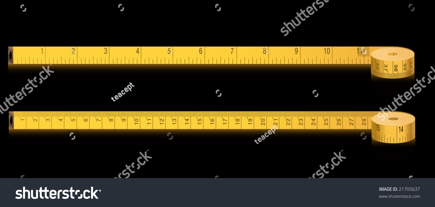 Measure tape inches centimeters vector stock vector 21705637 measure tape inches and centimeters vector buycottarizona