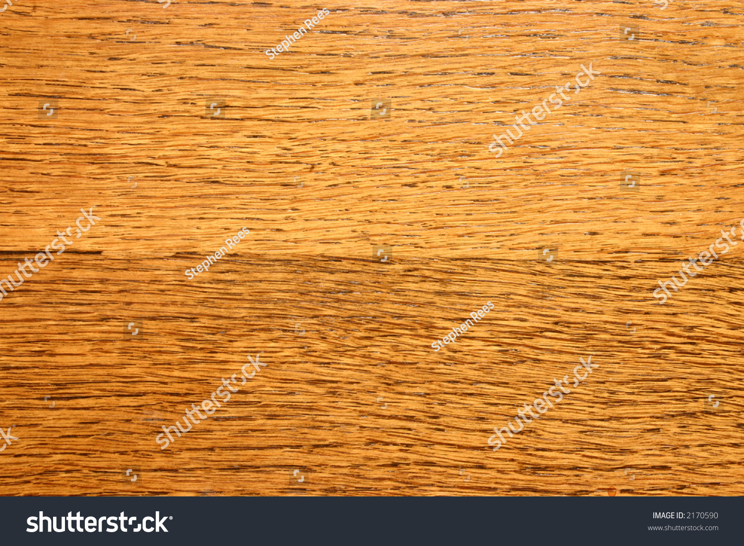 Close up of a varnished wooden kitchen table stock photo