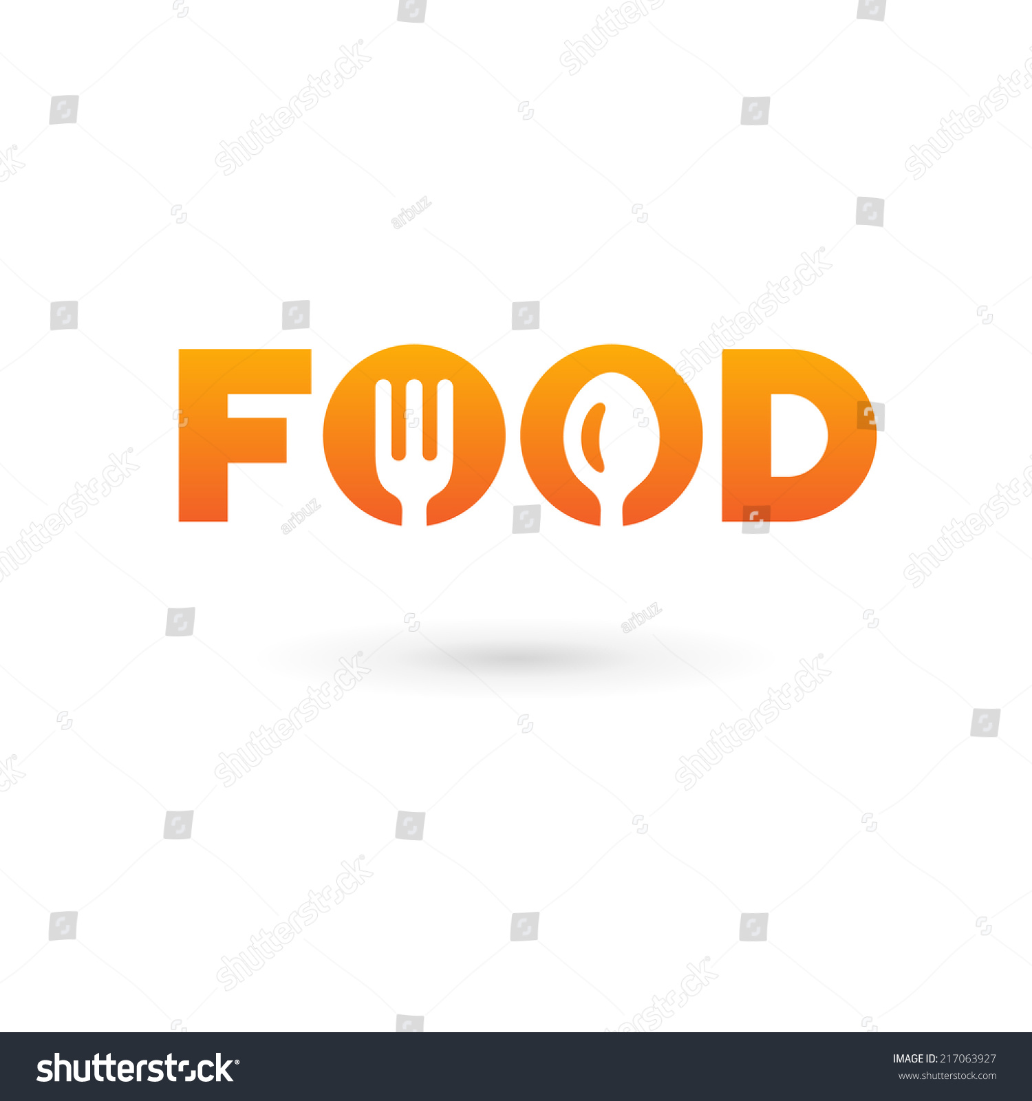 food word sign logo icon design stock vector 217063927. Black Bedroom Furniture Sets. Home Design Ideas