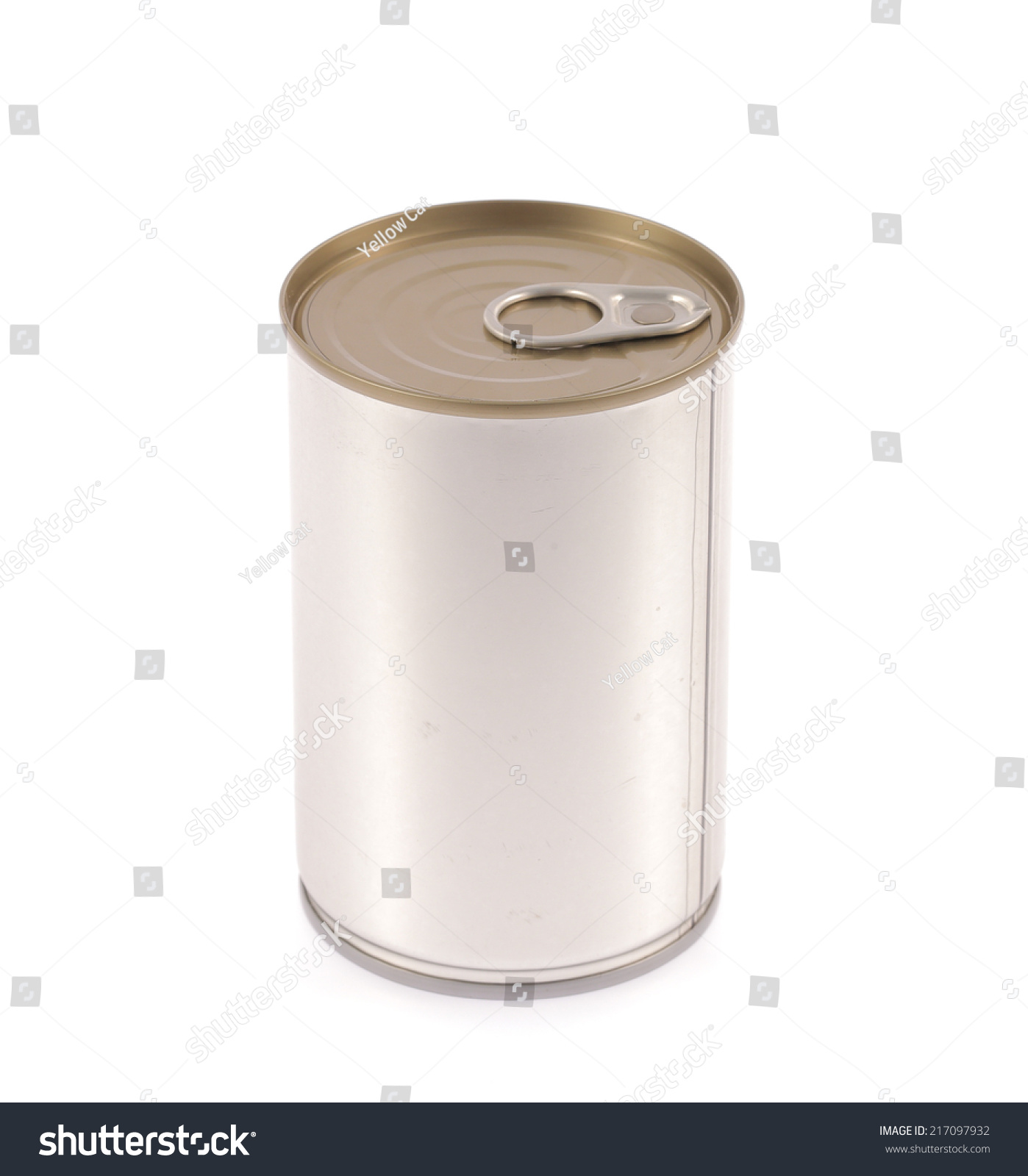 Aluminum canned food isolated on white background stock for Aluminum cuisine