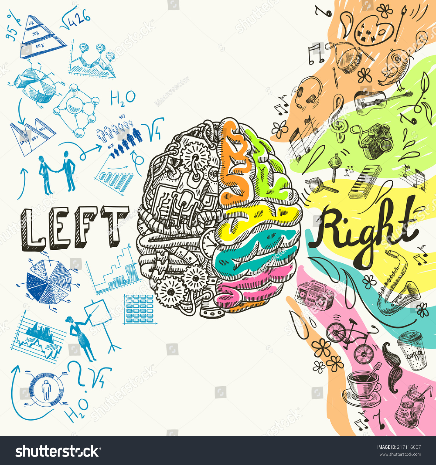 Brain Left Analytical Right Creative Hemispheres 217116007