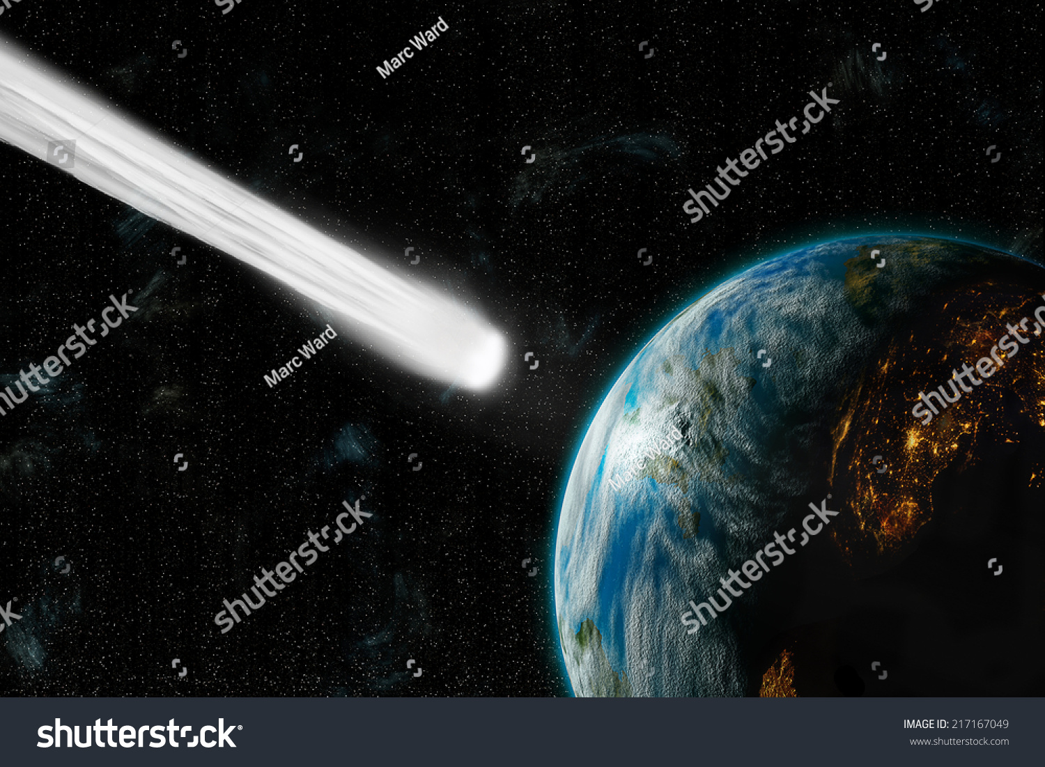 Artists Depiction Inhabited Earthlike Planet Facing Stock ...
