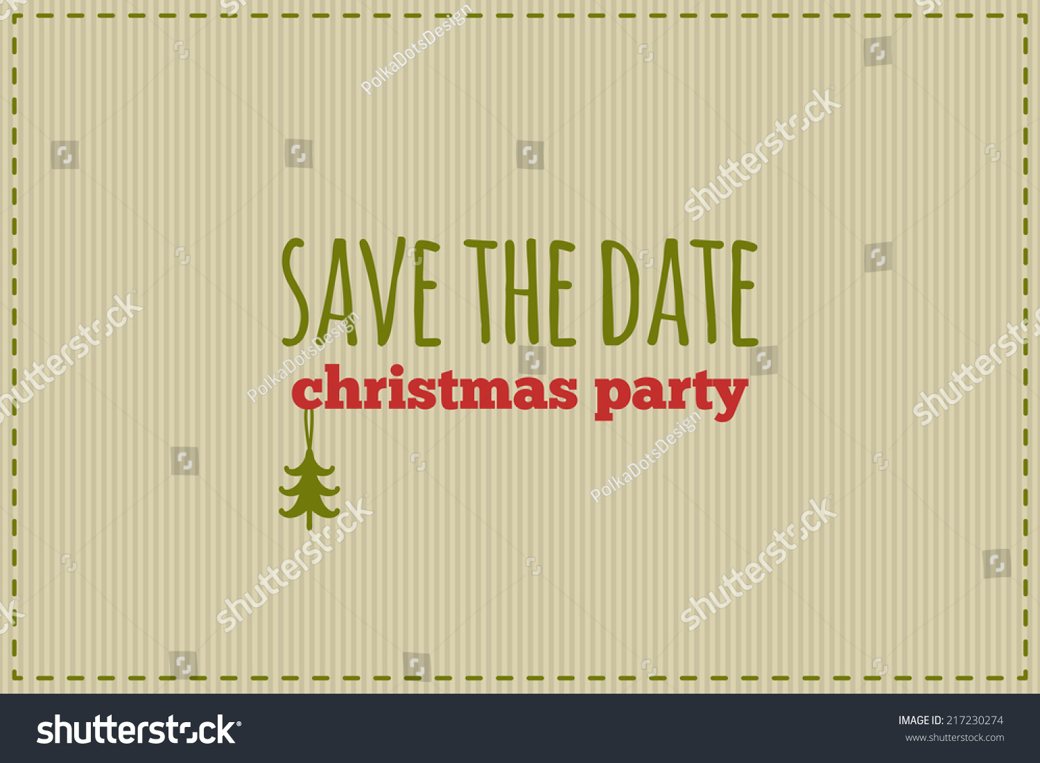 Save Date Christmas Card Traditional Red Stock Vector (Royalty Free ...
