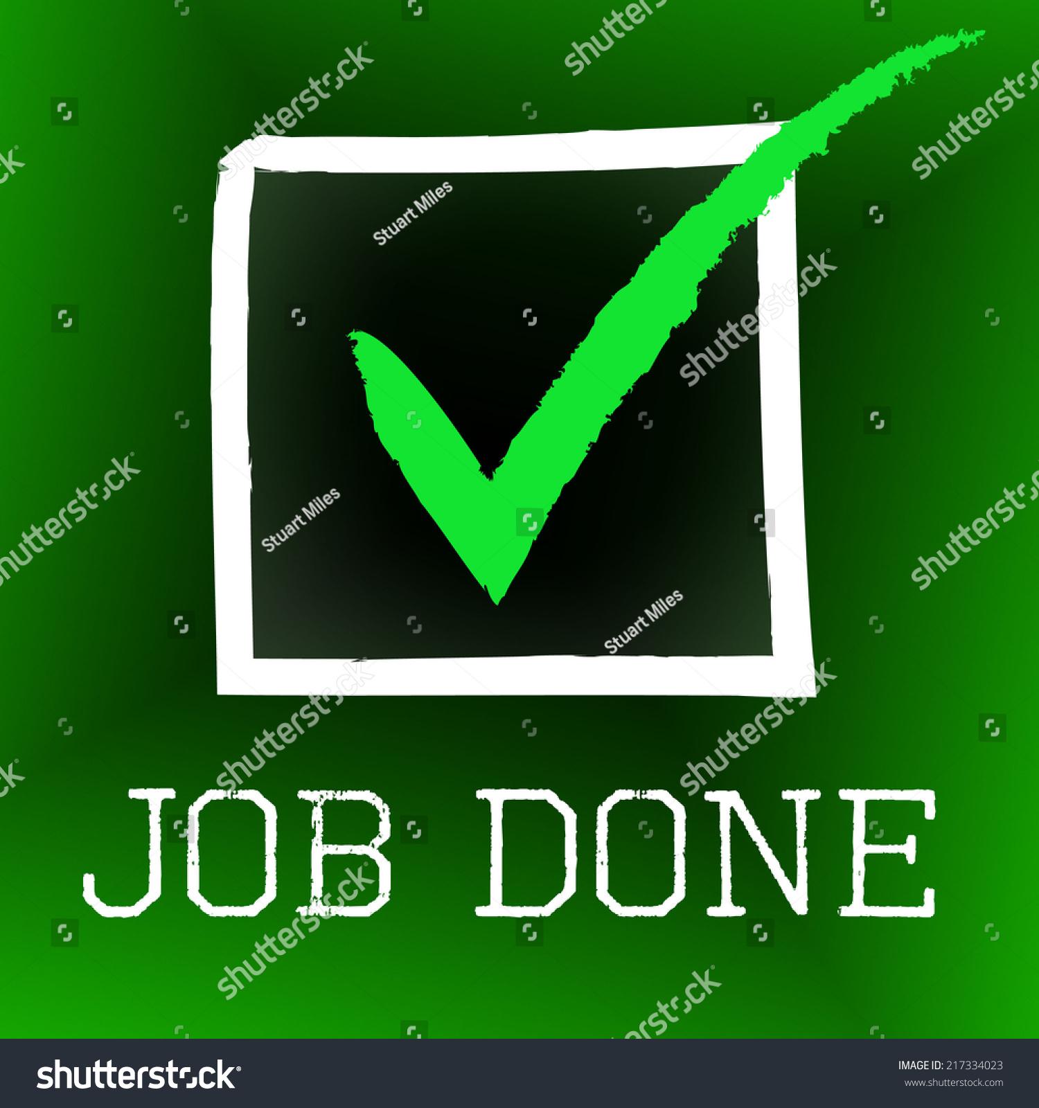 Checkmark symbol in word choice image symbol and sign ideas job done showing tick symbol ok stock illustration 217334023 job done showing tick symbol and ok buycottarizona