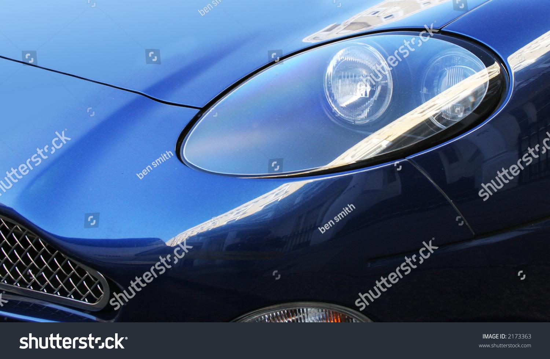 Aston Martin DB Headlight Stock Photo Edit Now - Aston martin headlights