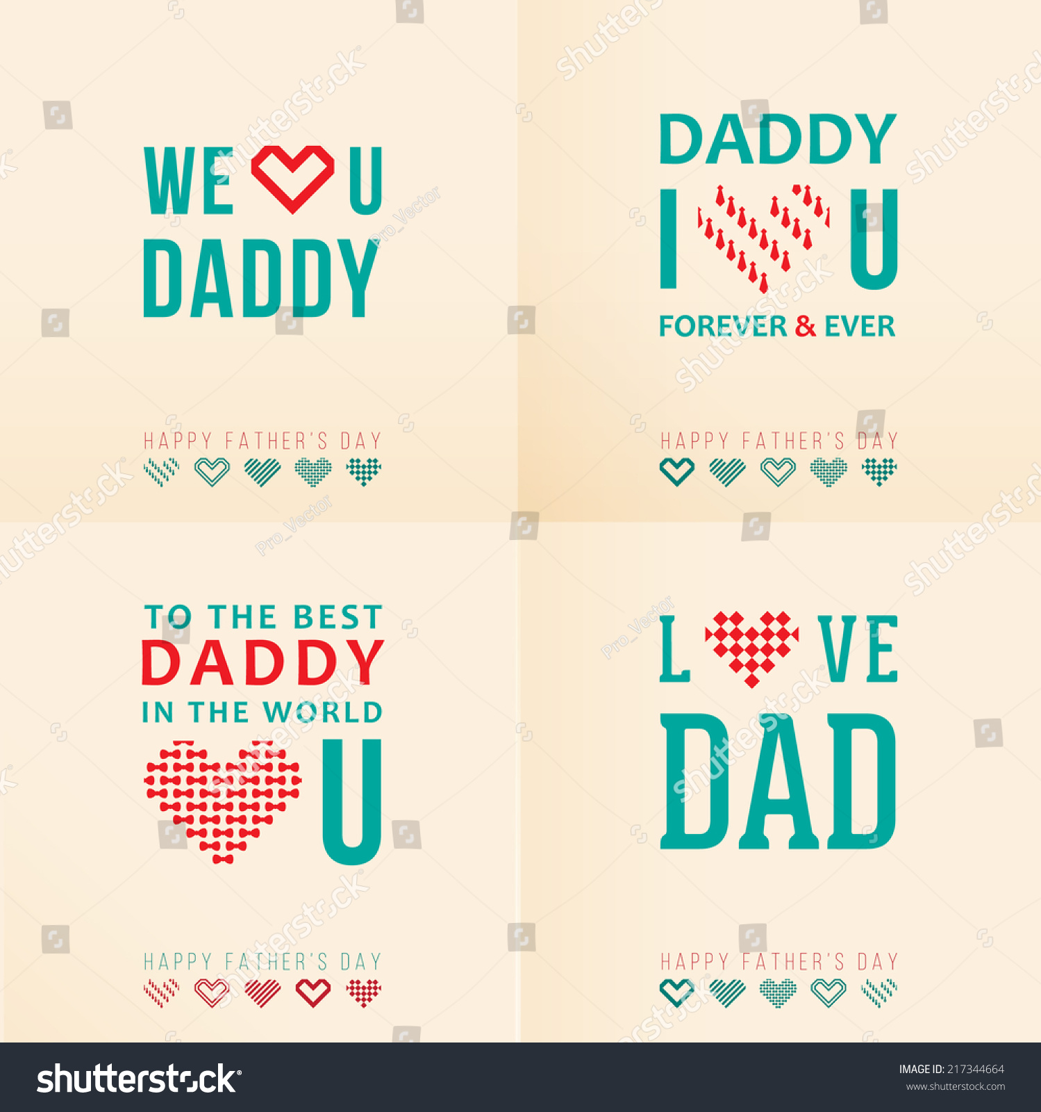 Greeting Cards Happy Fathers Day Stock Photo Photo Vector