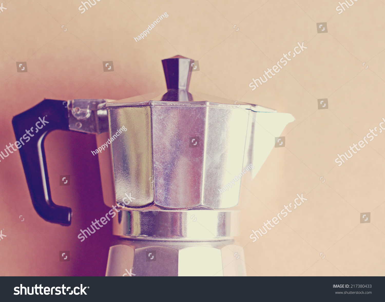 Italian Coffee Maker With Retro Instagram Filter Effect Stock Photo 217380433 : Shutterstock