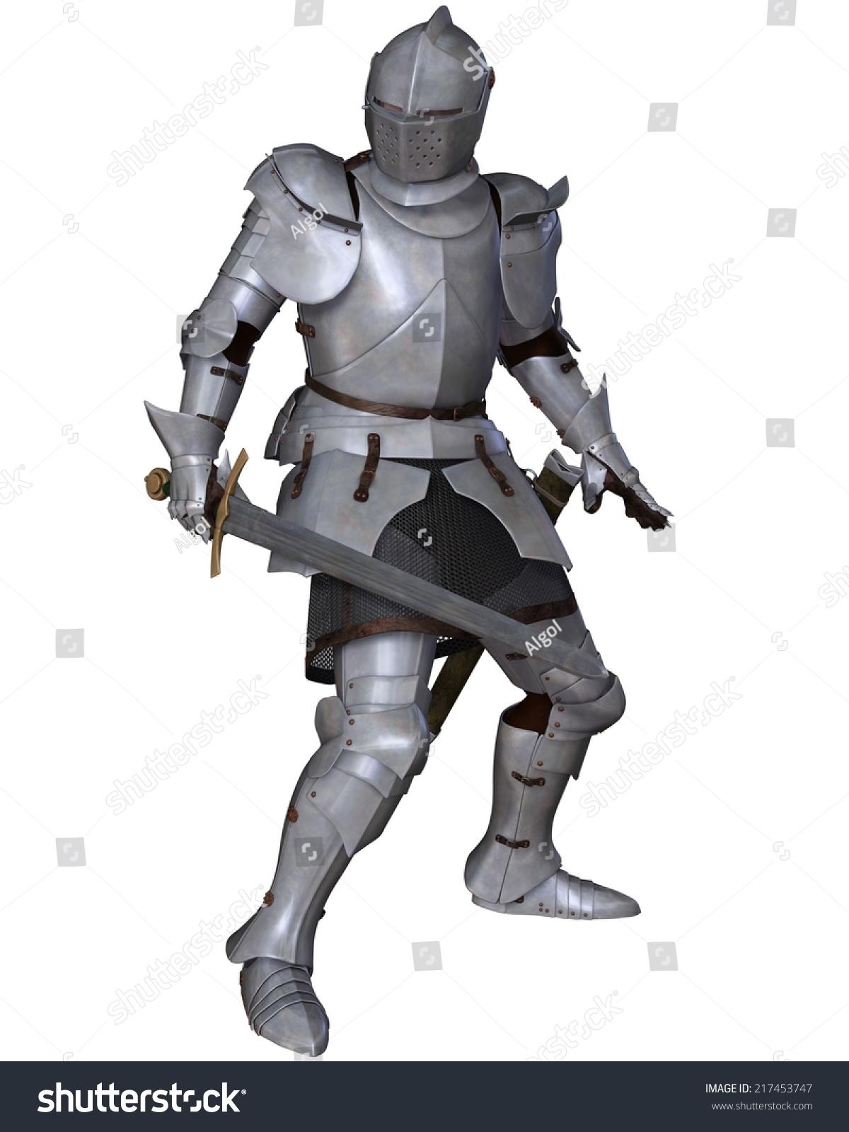Lady knight in shining armor