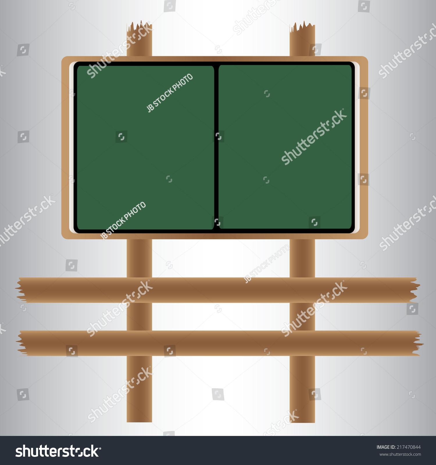 wooden sidewalk sign with blank green menu board