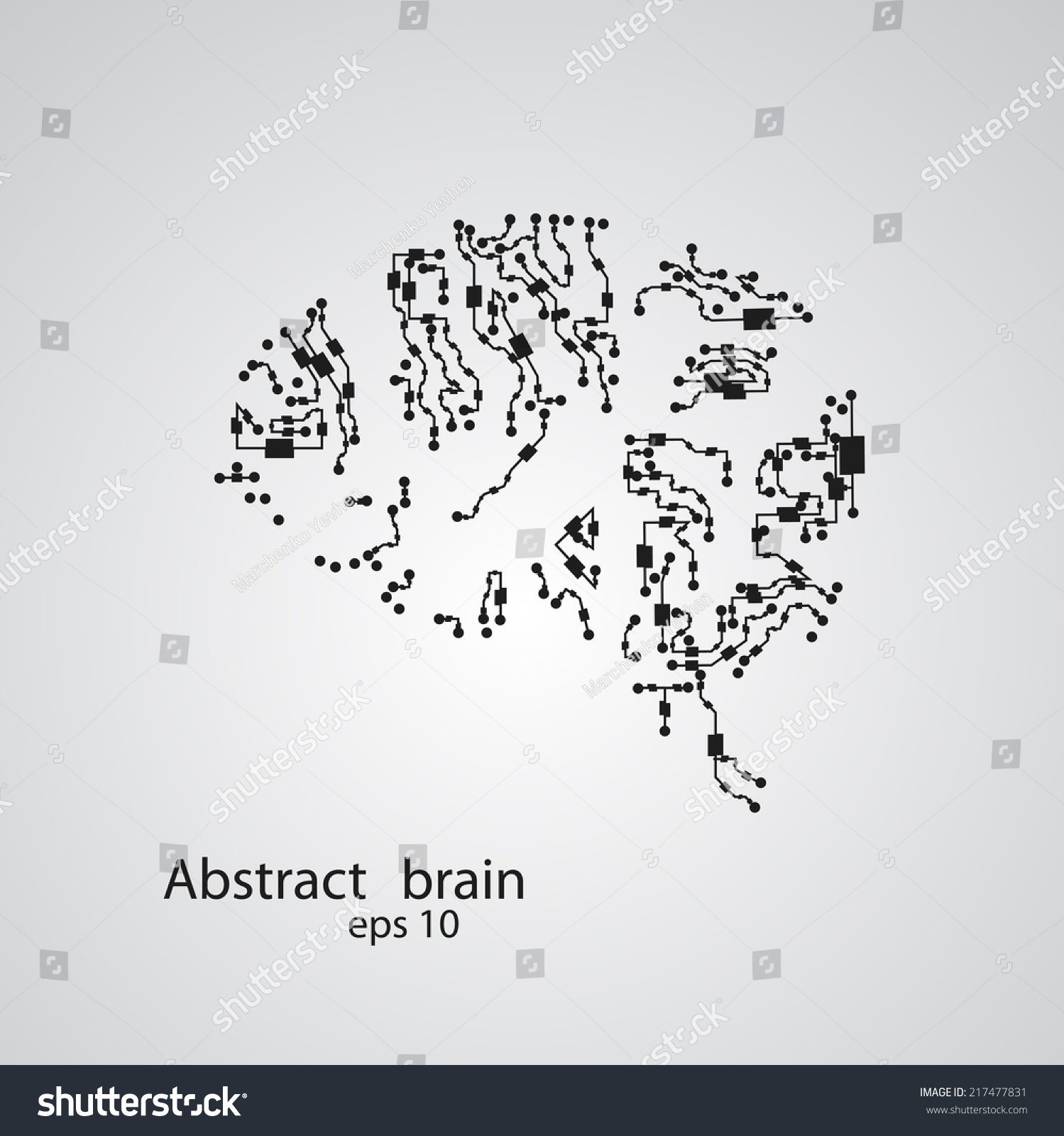 Circuit Board Brain Eps 10 Vector Stock Royalty Free Illustration Image