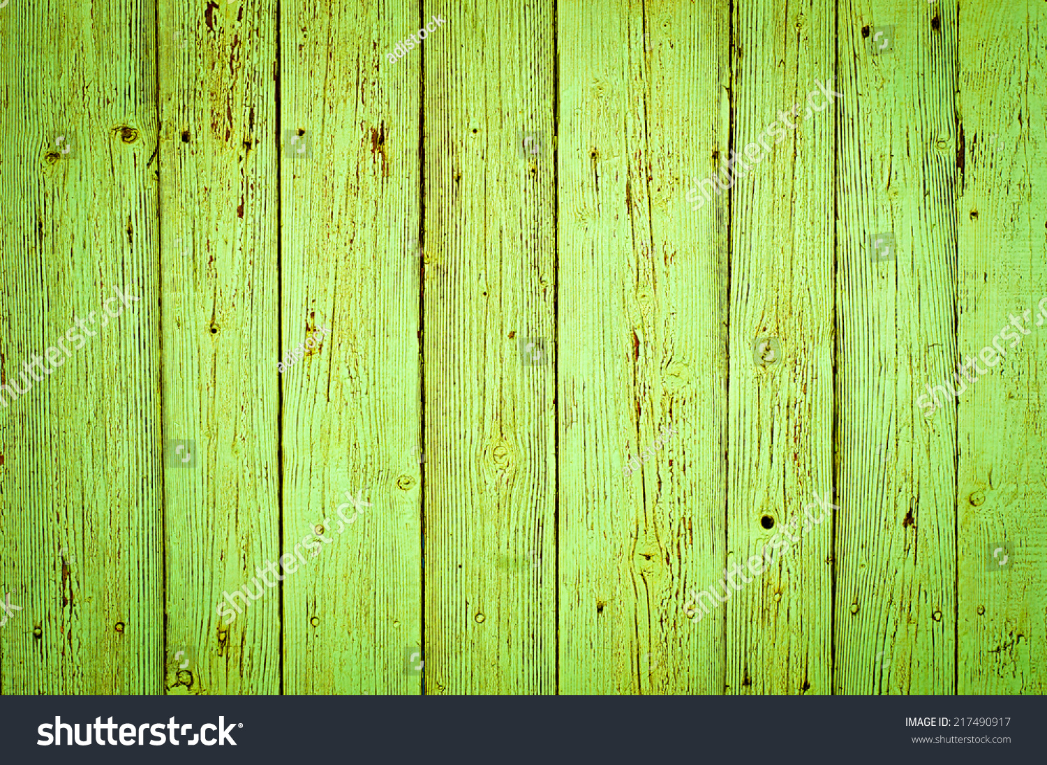 Green Wood Texture Background Old Stock Photo