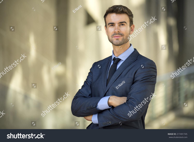 Portrait confident lawyer outside office stock photo 217491745 shutterstock - Office portrait photography ...