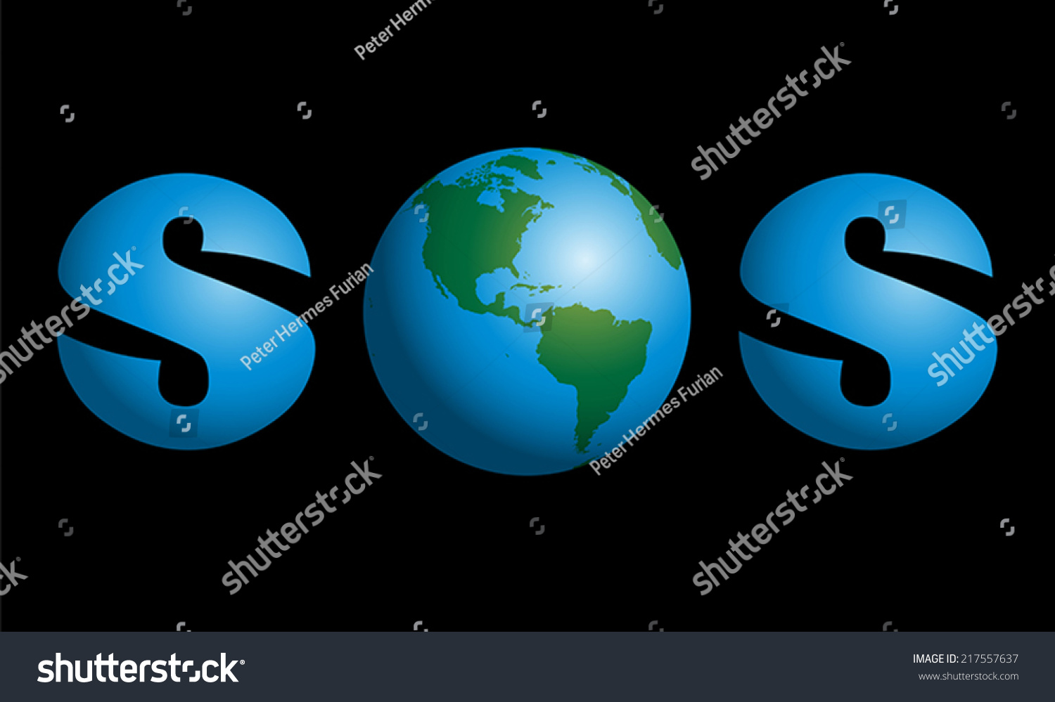 Sos planet earth middle symbol global stock vector 217557637 sos with planet earth in the middle as a symbol for global troubles like environmental buycottarizona