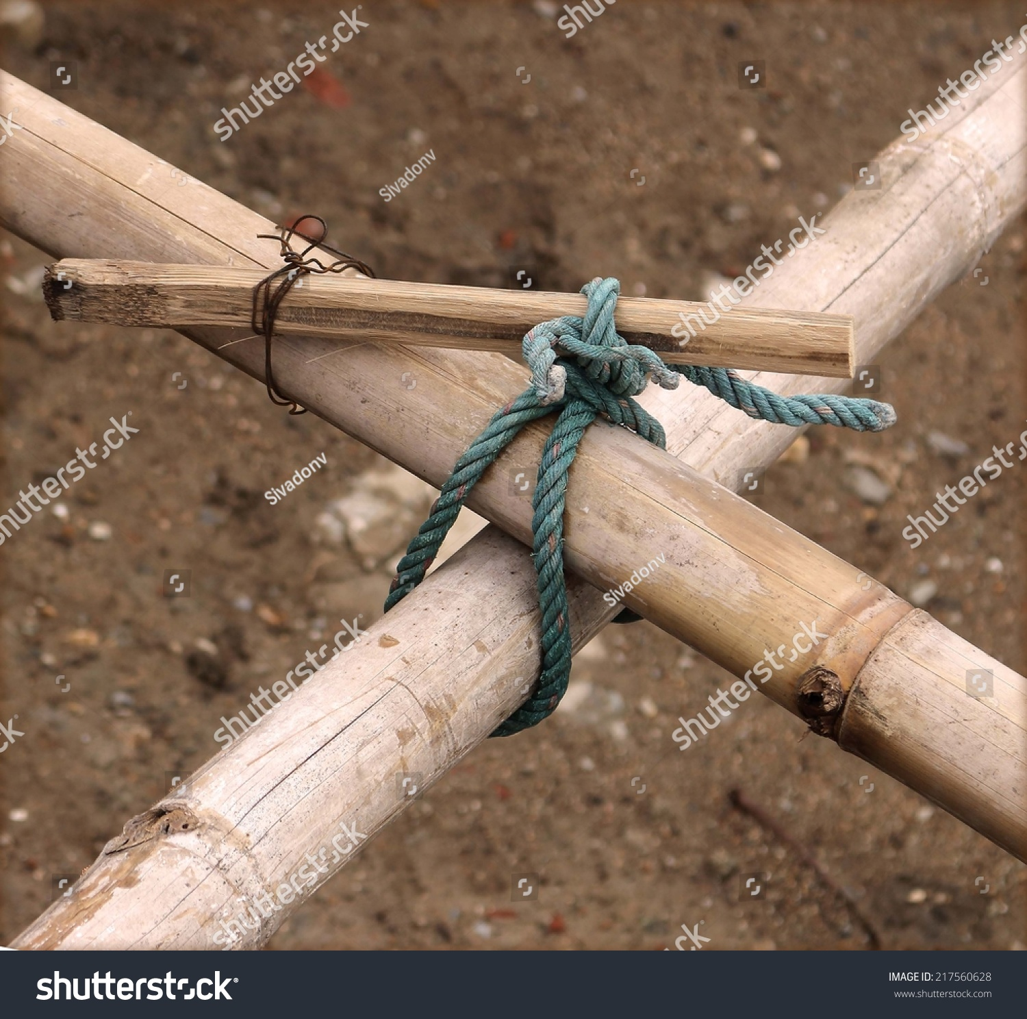 Knot Rope Scaffolding Bamboo Stock Photo (Edit Now) 217560628 ...