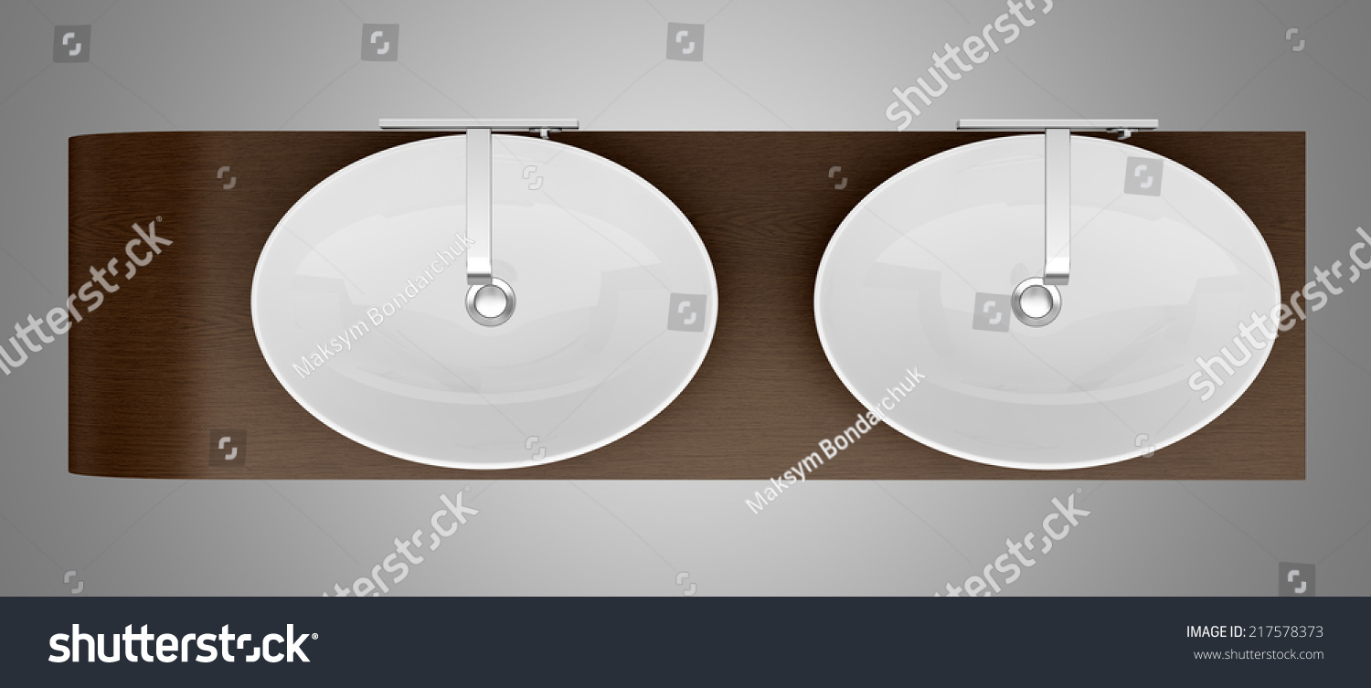Top View Modern Bathroom Sink Isolated Stock Illustration 217578373 ... for Modern Sink Top View  45gtk
