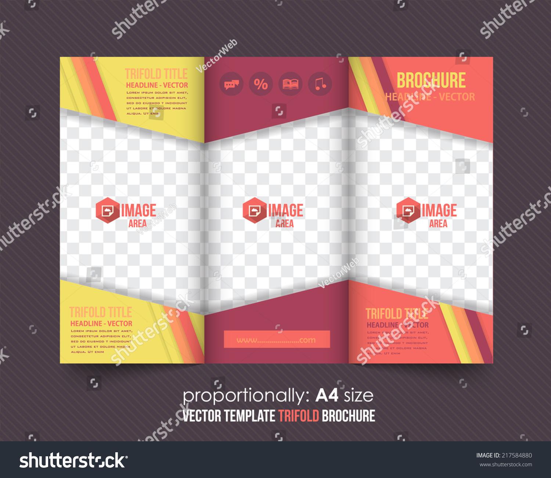 Trifold Brochure Catalog Vector Design Template Stock Vector HD ...