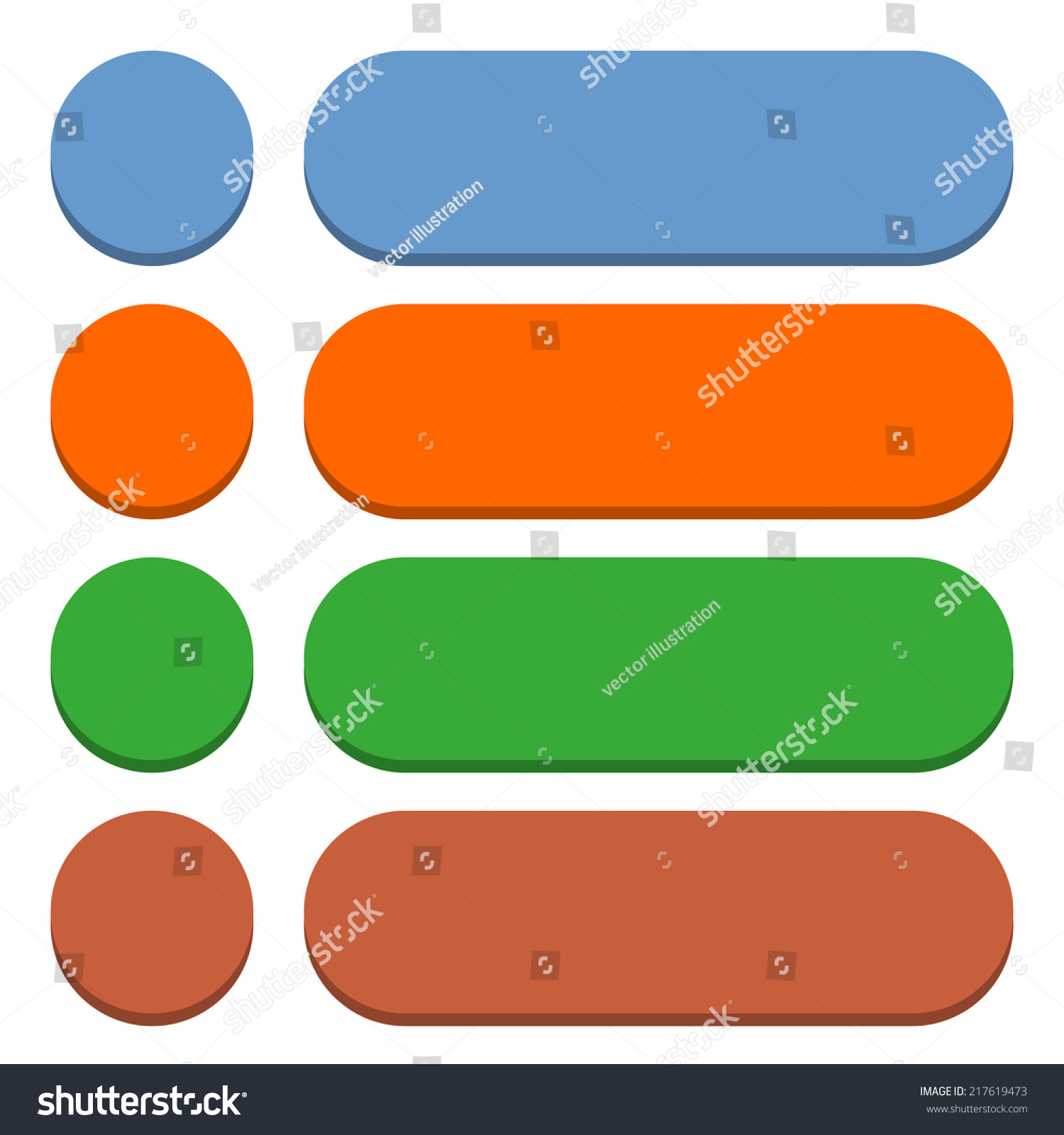 Blank Circle Rounded Rectangle Icon Isolated Stock Vector HD ...
