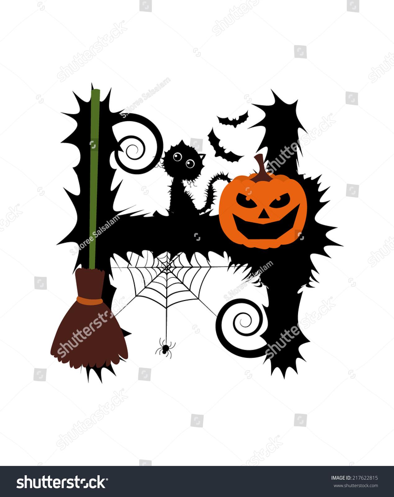Halloween Alphabet Set Letters Pumpkin On Stock Vector 217622815 ...