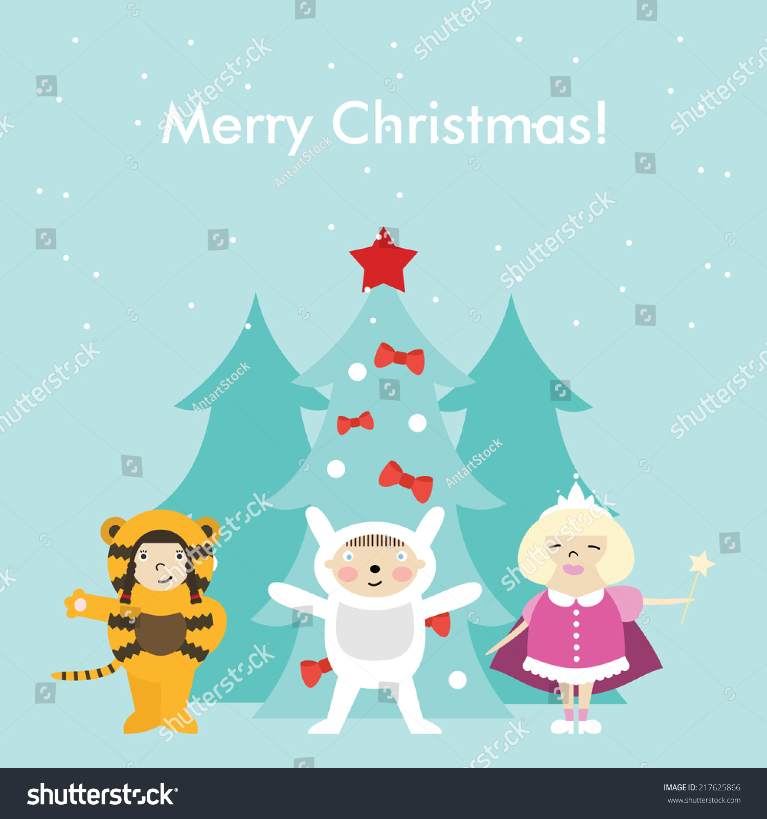 Christmas greeting card characters merry christmas stock vector christmas greeting card and characters merry christmas and holidays wish vector background kristyandbryce Gallery