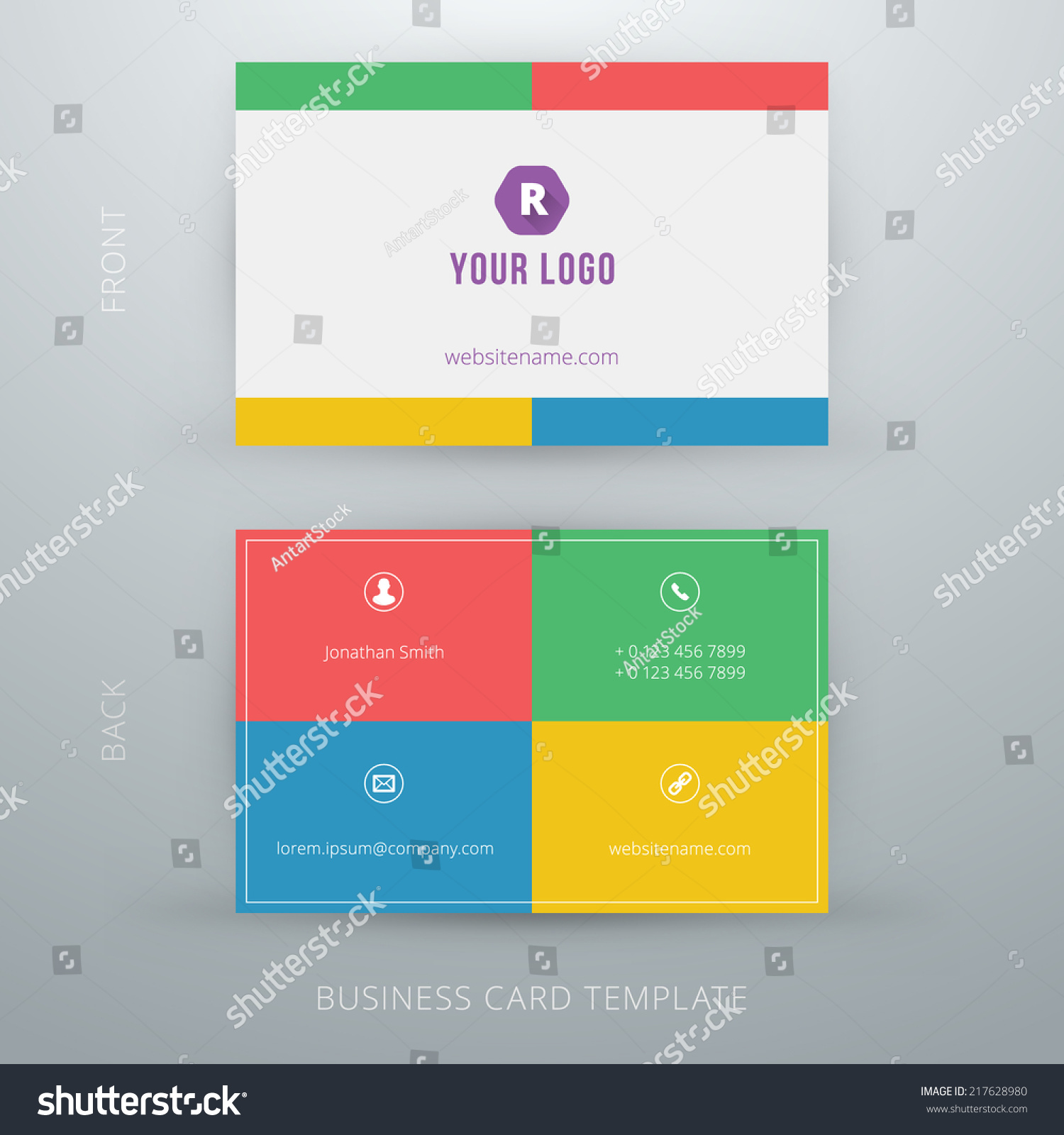simple business card template - Pertamini.co