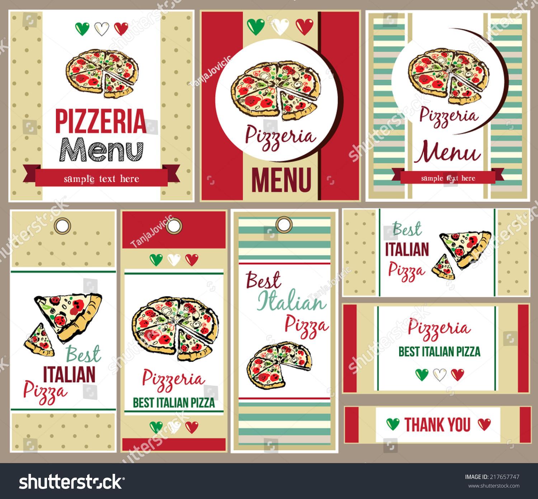 Template Menu Pizza Restaurant Business Card Stock Vector ...