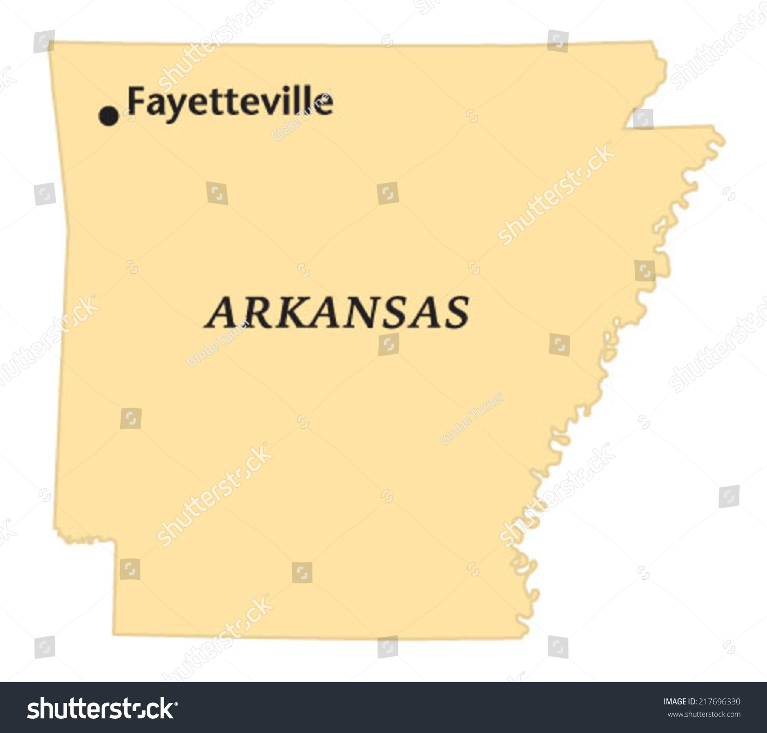 Fayetteville Arkansas Locate Map Stock Vector (Royalty Free ...
