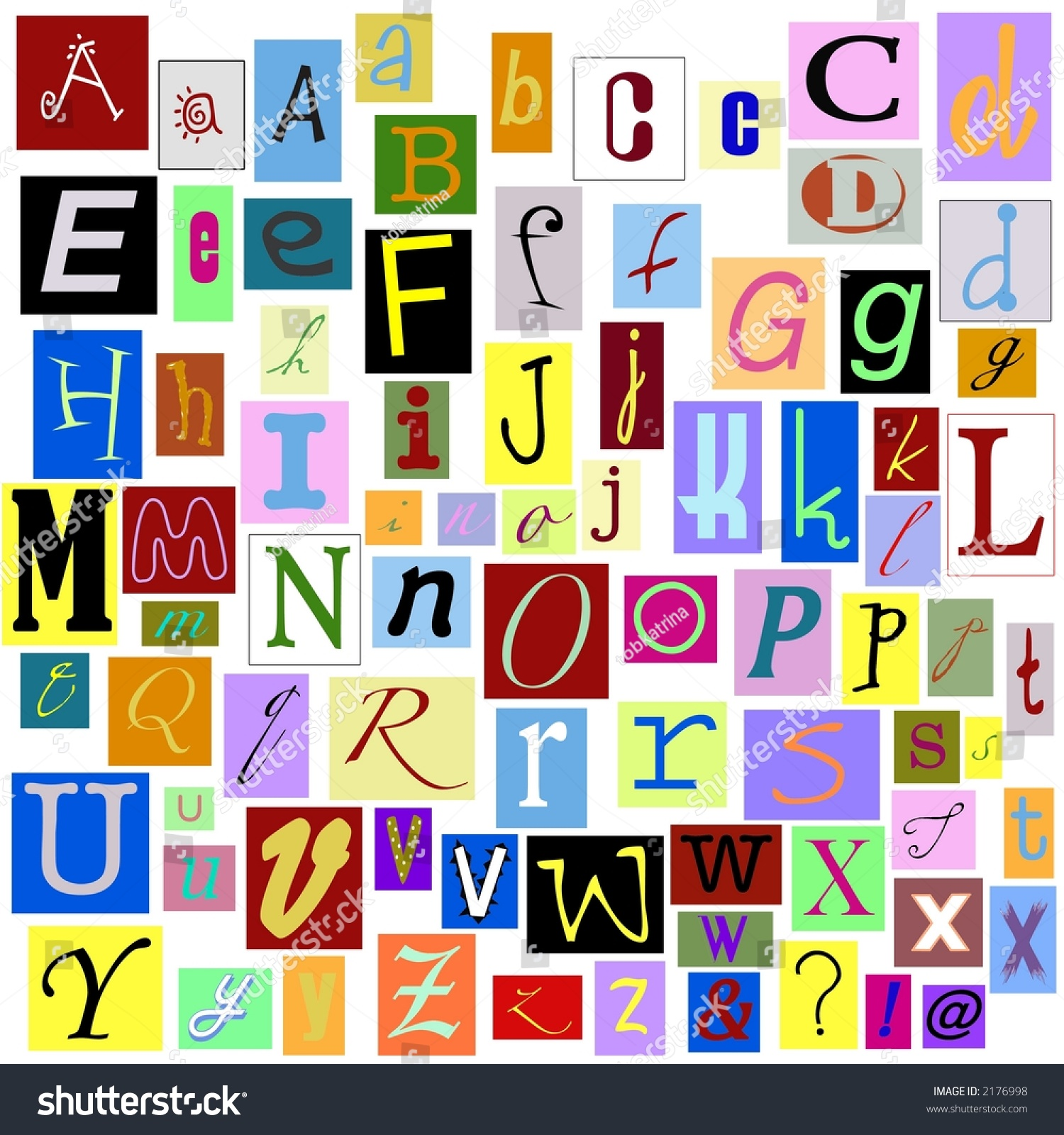 Alphabet Magazine Letters Isolated You Can Stock Illustration ...