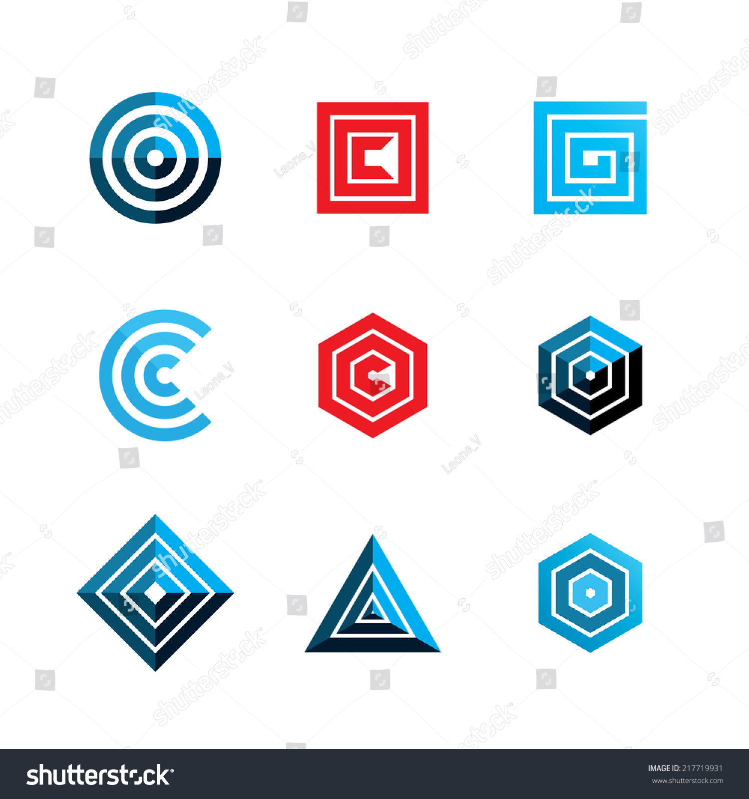 abstract geometric shapes template logo design vector