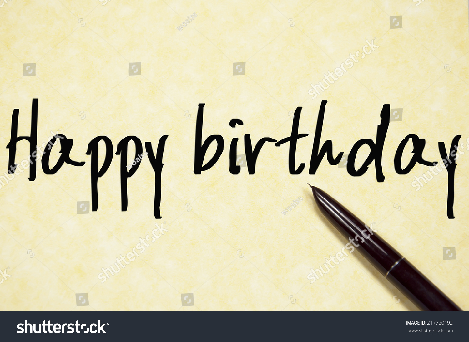 happy birthday text write on paper stock photo  happy birthday text write on paper