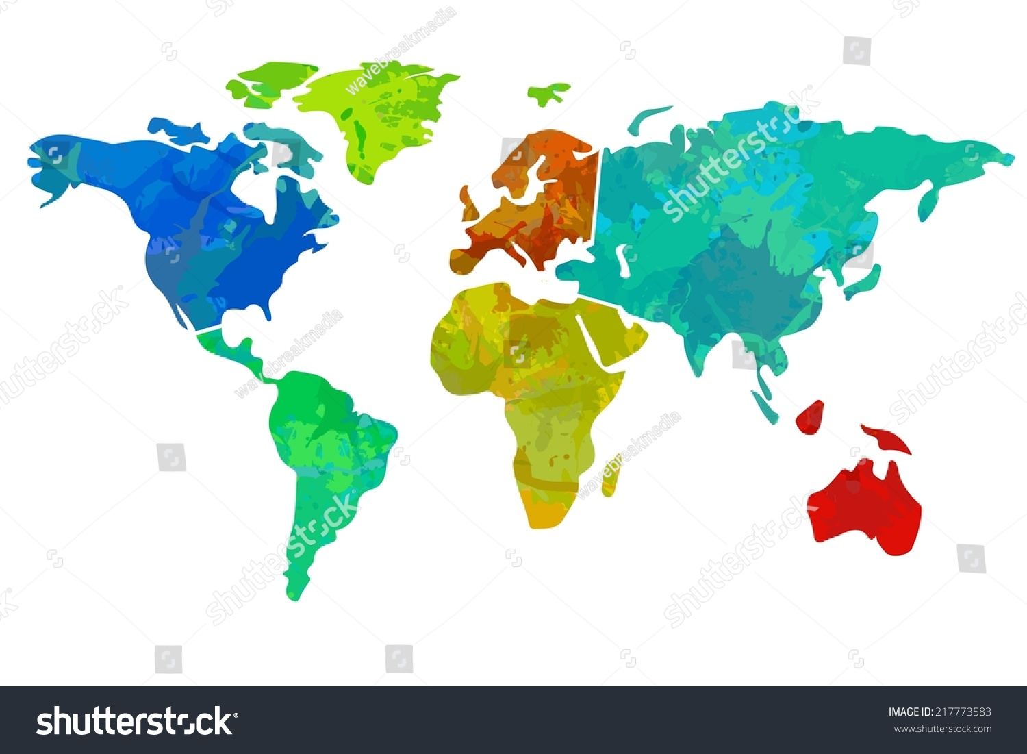 Colourful world map on white background stock illustration 217773583 colourful world map on white background gumiabroncs Gallery