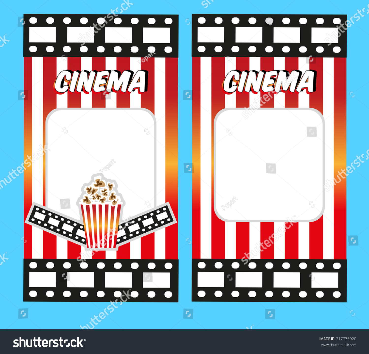 cinema tickets invitation design template stock vector 217775920 shutterstock. Black Bedroom Furniture Sets. Home Design Ideas
