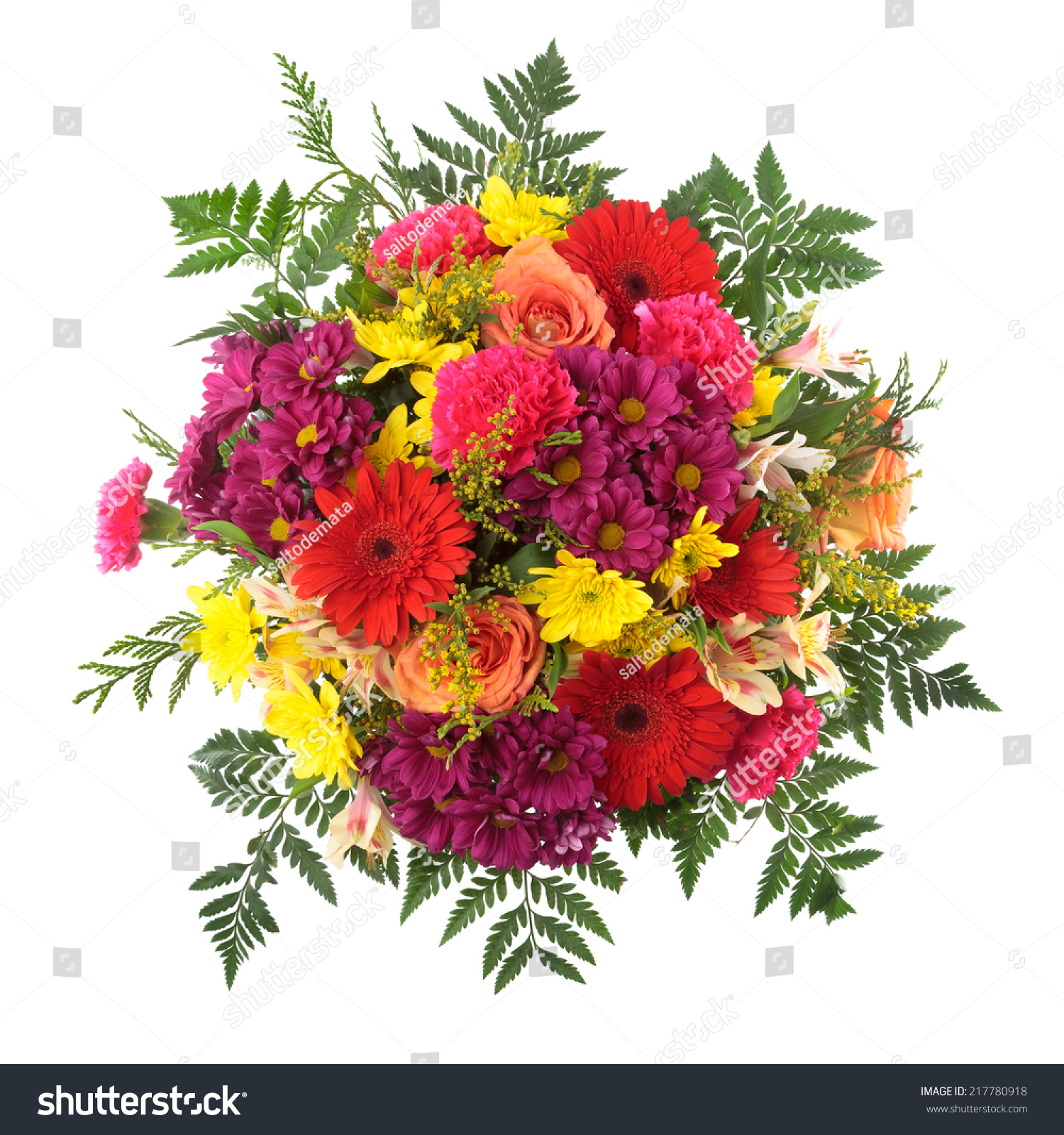 Bouquet of flowers seen from above roses chrysanthemum gerber id 217780918 izmirmasajfo