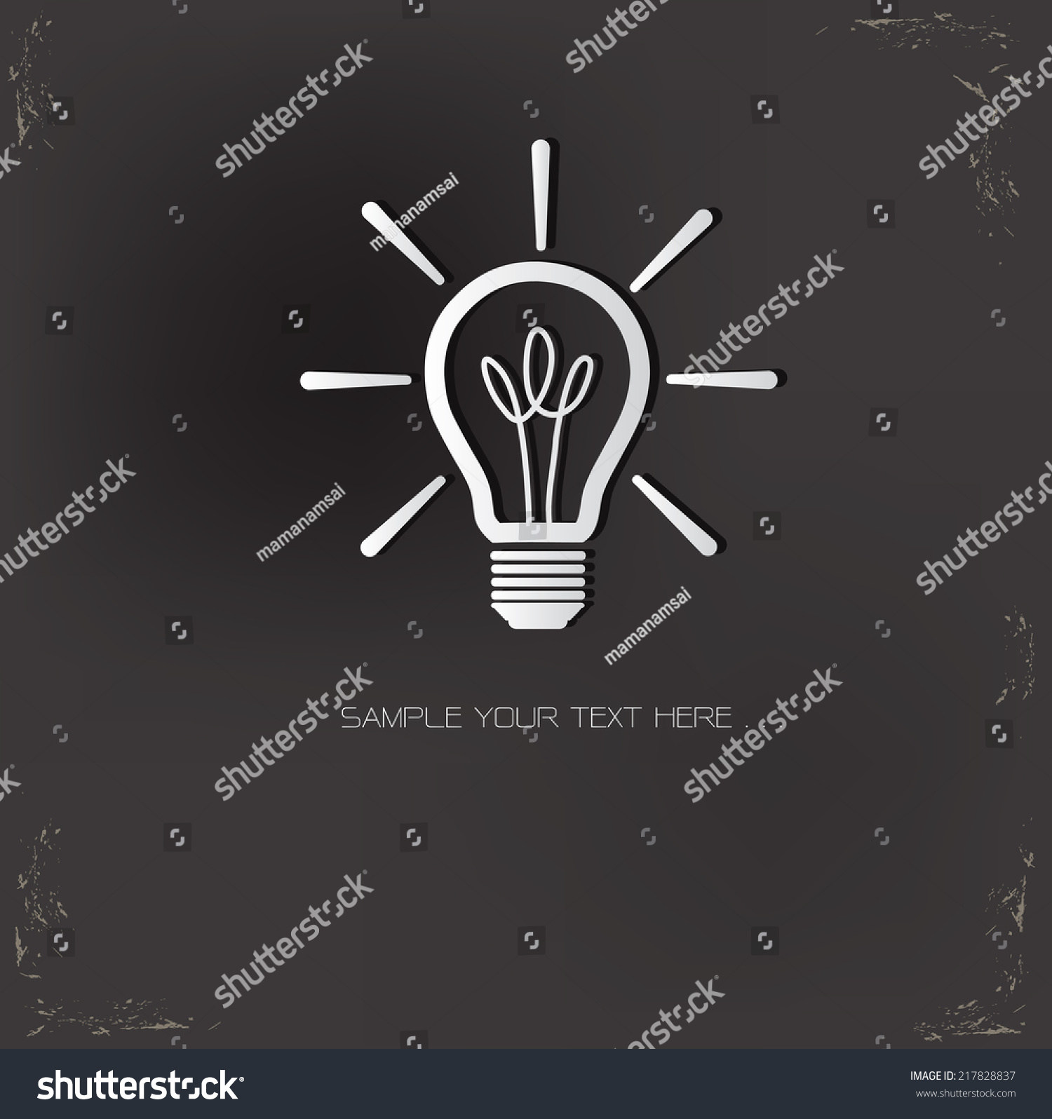 Light Bulb Symbol On Dark Backgroundvector Stock-vektorgrafik ...