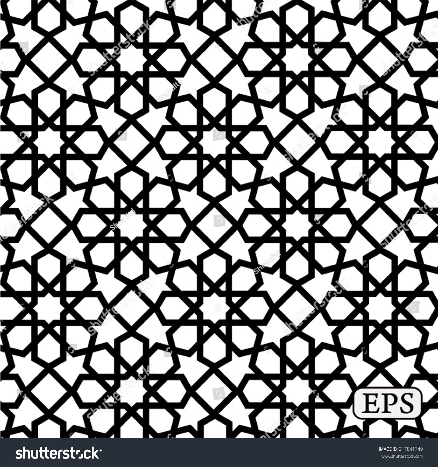 Geometrical Arabic Islamic Pattern Background Stock Vector