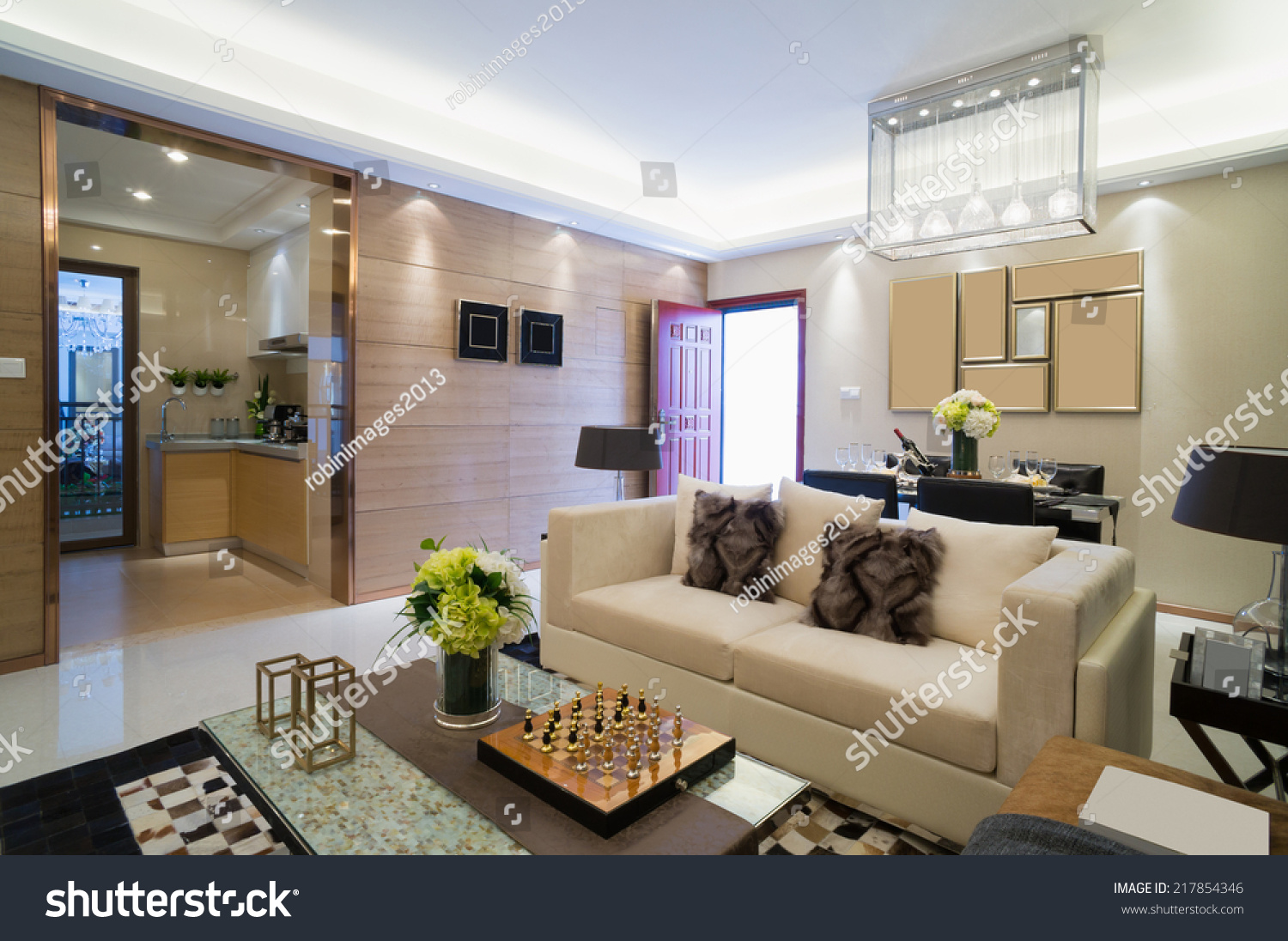 Modern Living Room Nice Design Decoration Stock Photo