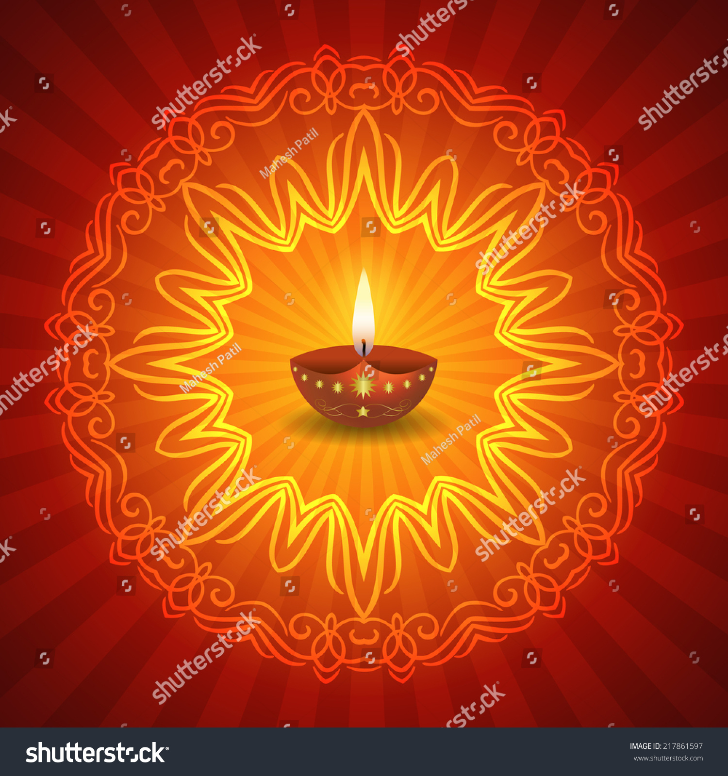 decorative diwali light wanker for
