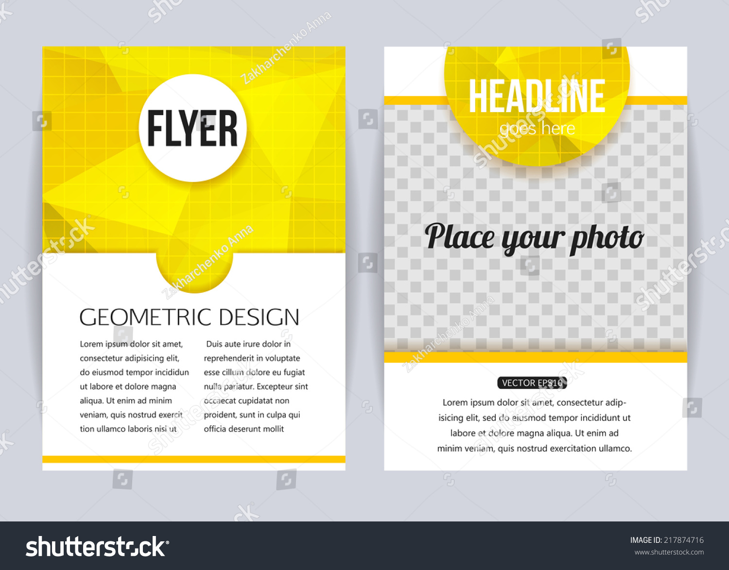 abstract brochure design templates modern back stock vector abstract brochure design templates modern back and front flyer backgrounds geometric design vector