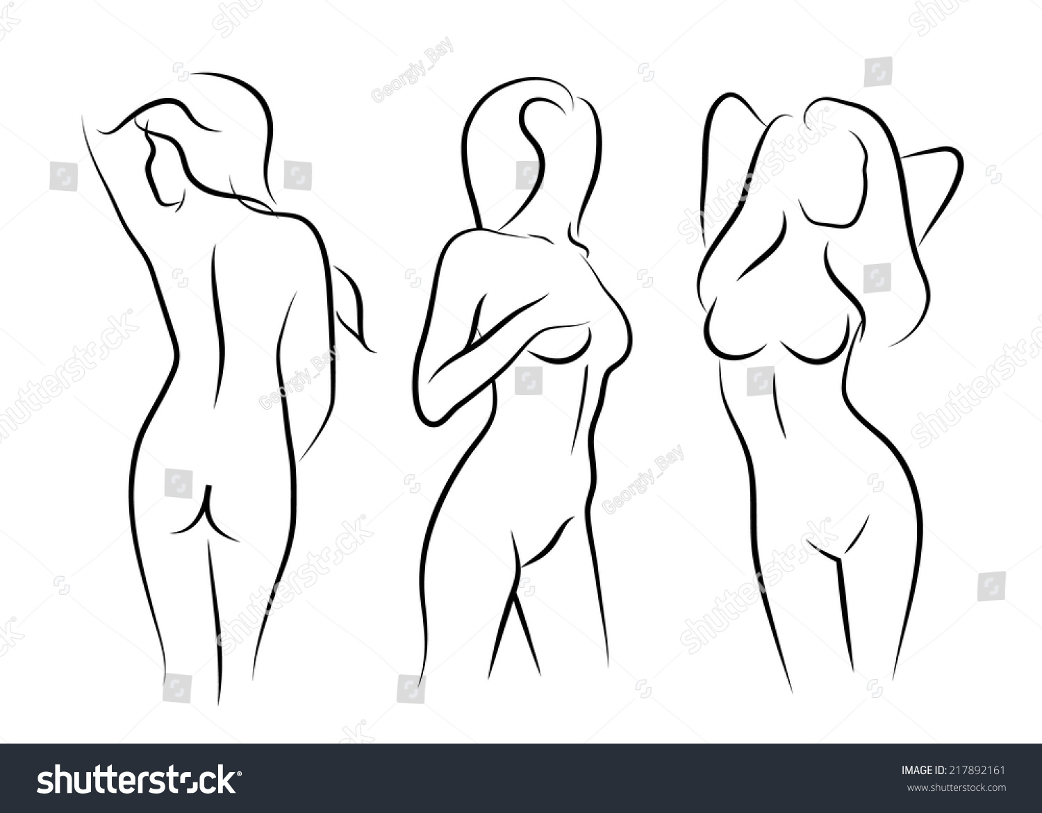 Illustrations Vector Women Naked Art Human Beauty Body Drawing
