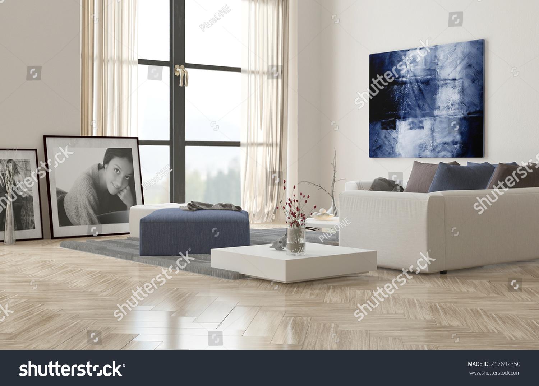 Living Room Interior Herringbone Parquet Floor Stock Illustration 217892350 Shutterstock