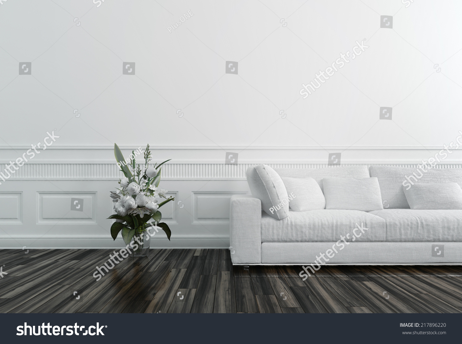 Flowers in vase next day delivery - Flowers In Vase Next To White Sofa In Luxury Upscale Home