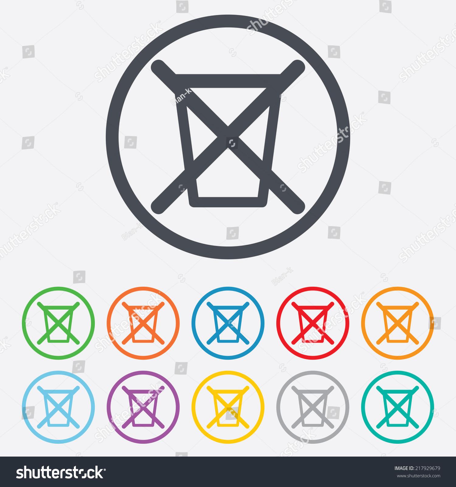 Do Not Throw Trash Recycle Bin Stock Illustration 217929679