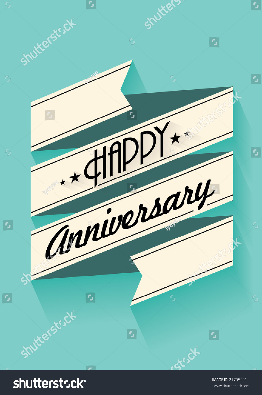 Happy anniversary banner template vectorillustration stock