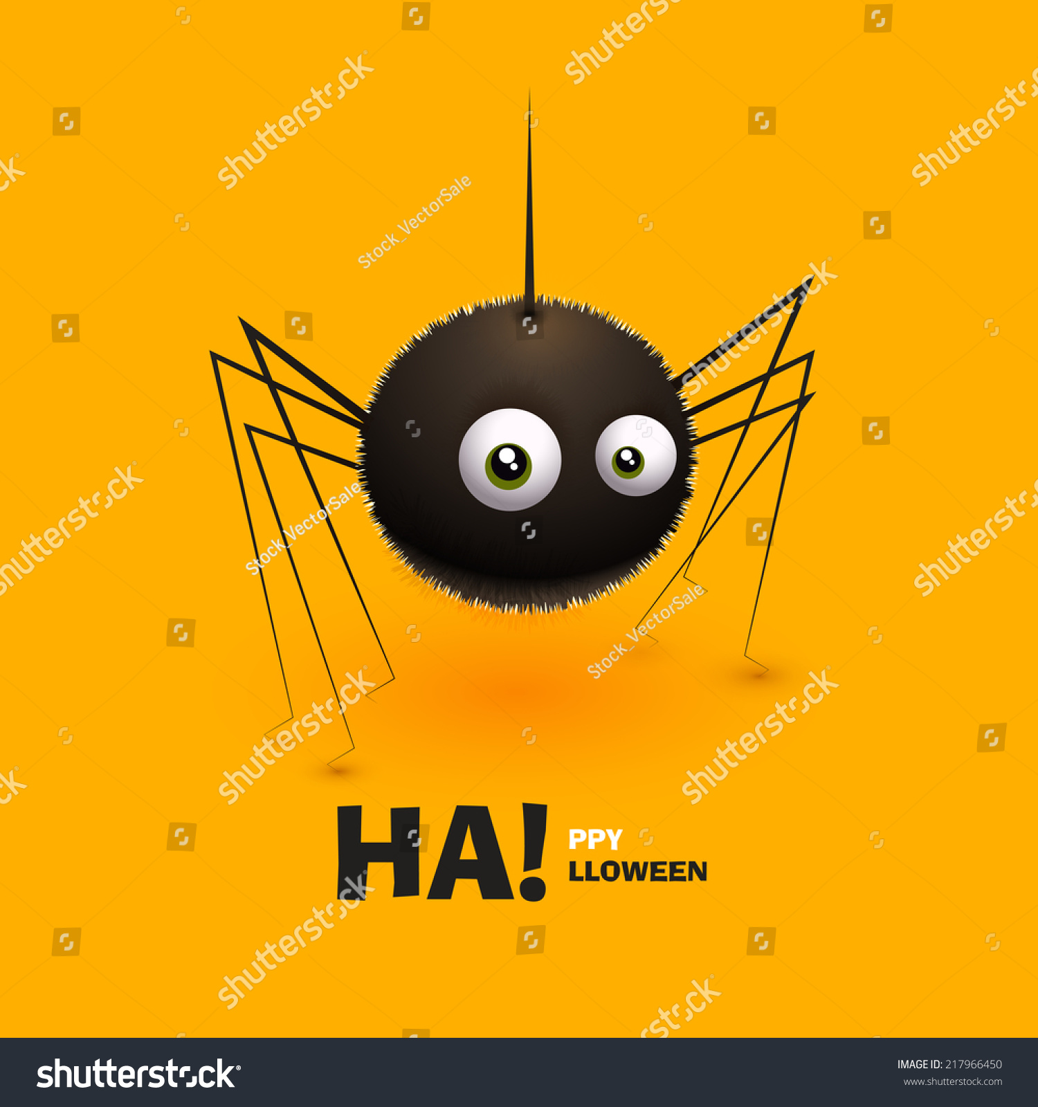icon halloween form spider furry vector stock vector (royalty free