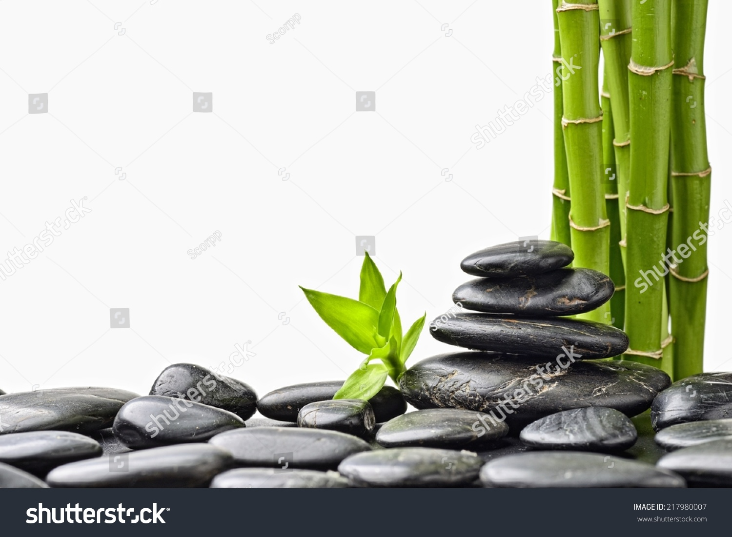 zen stones and bamboo - photo #8