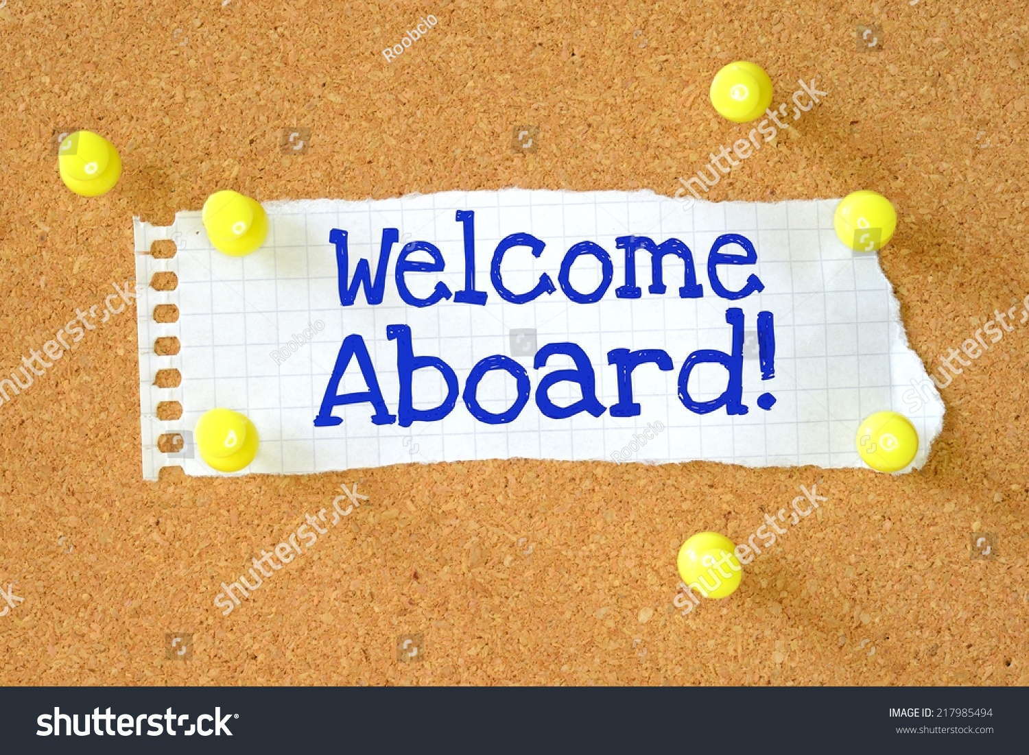 Phrase Welcome Aboard Typed Onto Scrap Stock Photo Edit Now