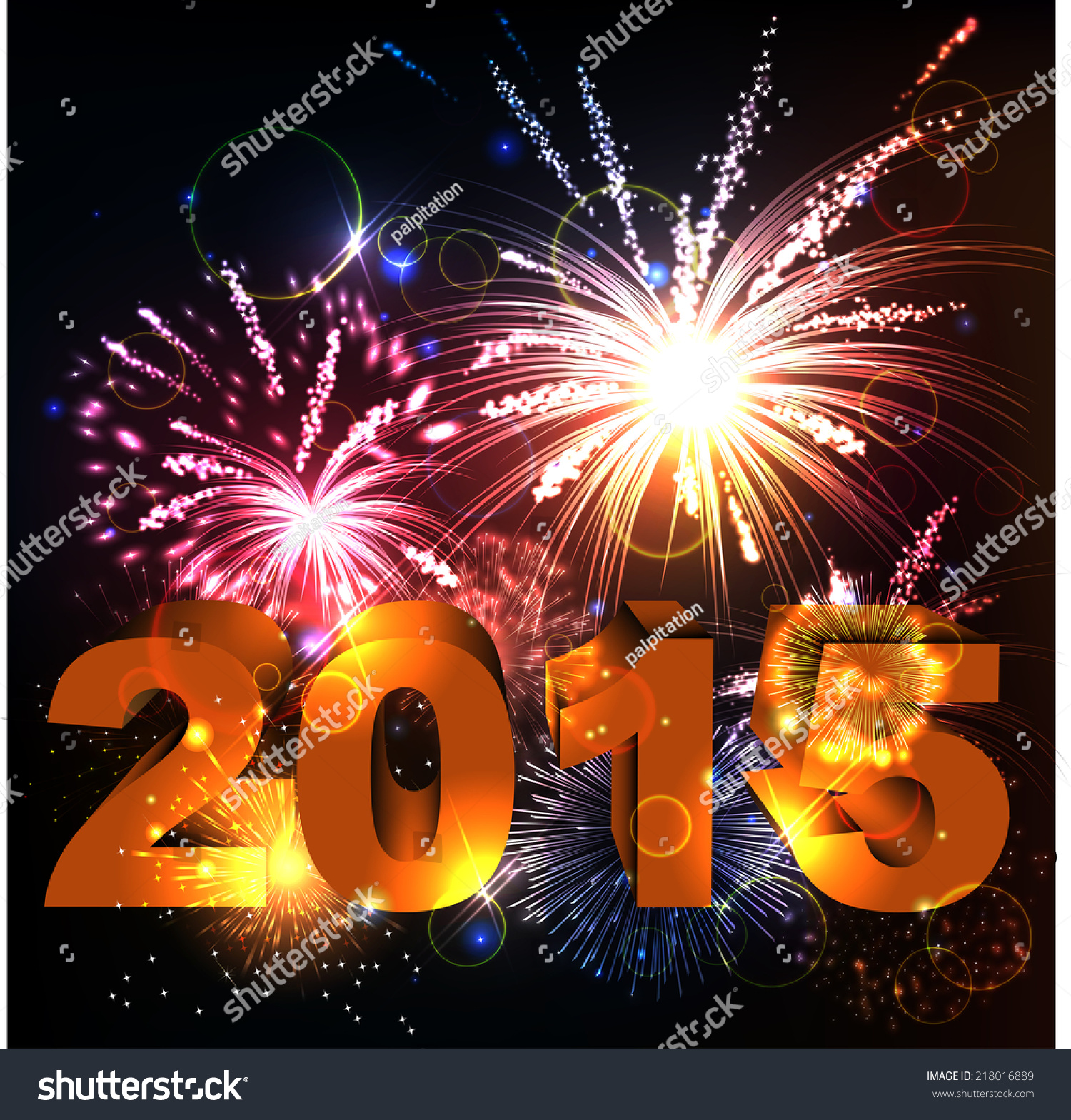 Tomb Rider Wallpaper: 2015 Happy New Year Celebration Background Stock Vector