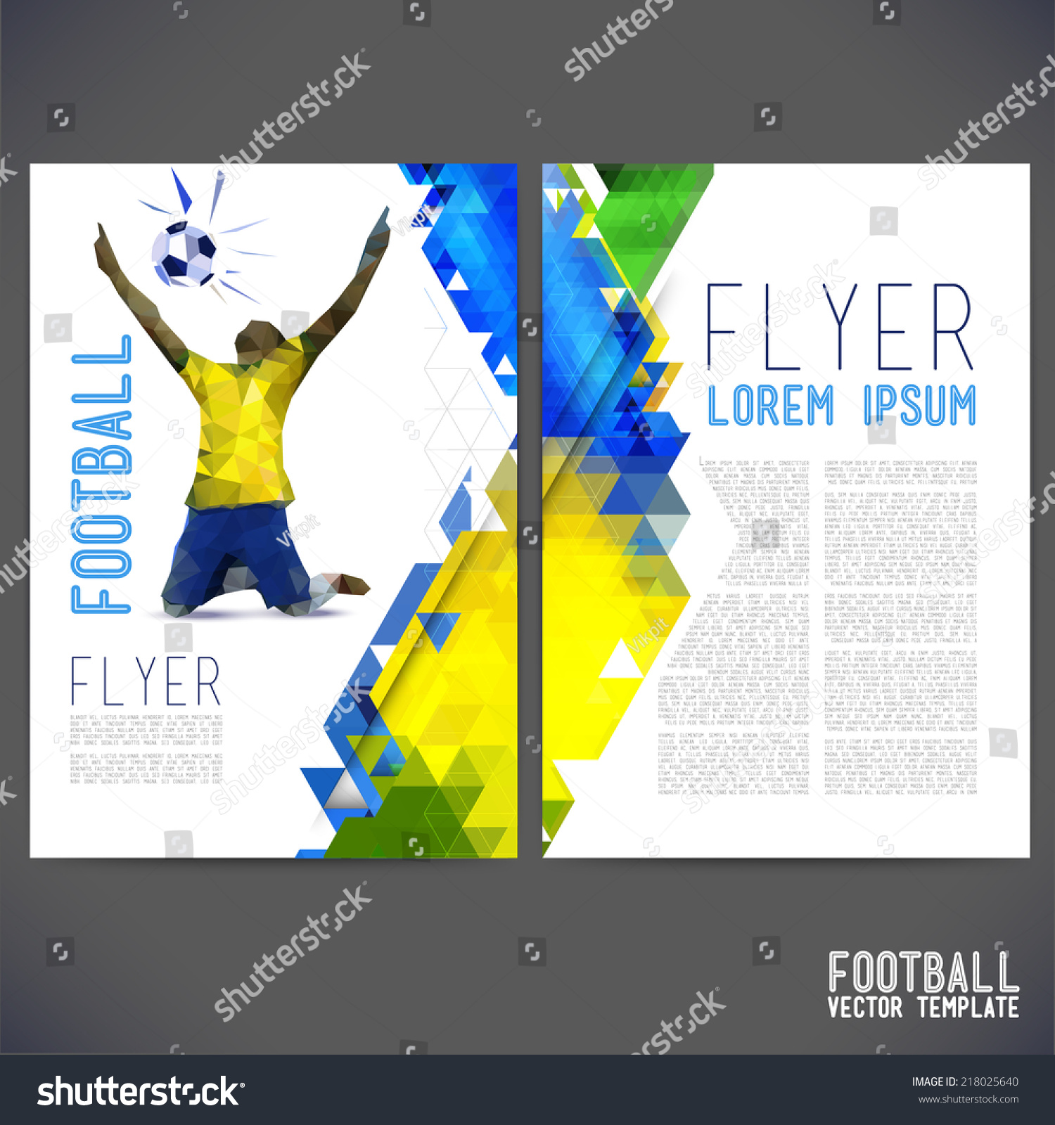 Sport championship france euro 2016 vector stock vector for Sports brochure templates