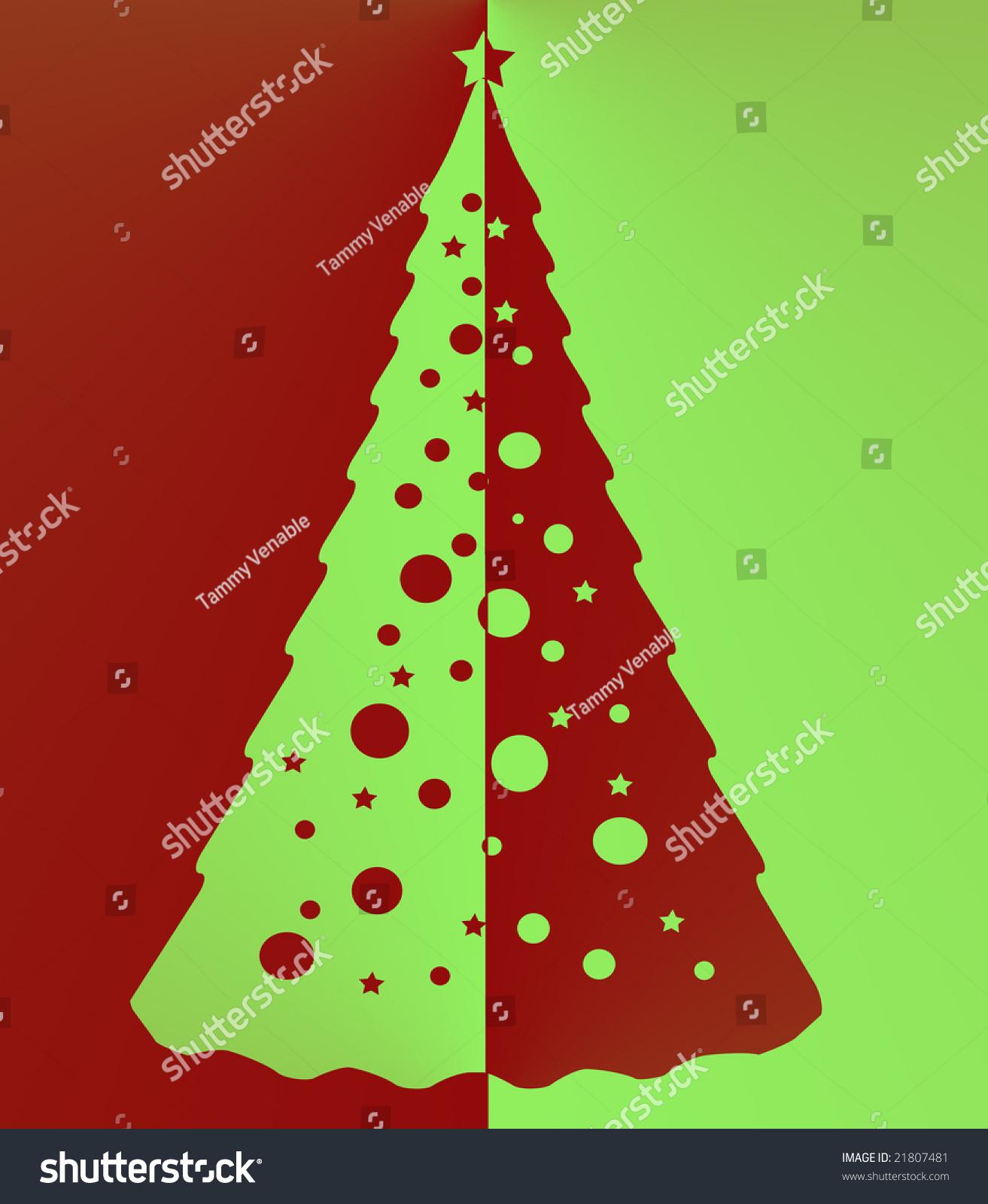 Two tone christmas tree stock photo shutterstock