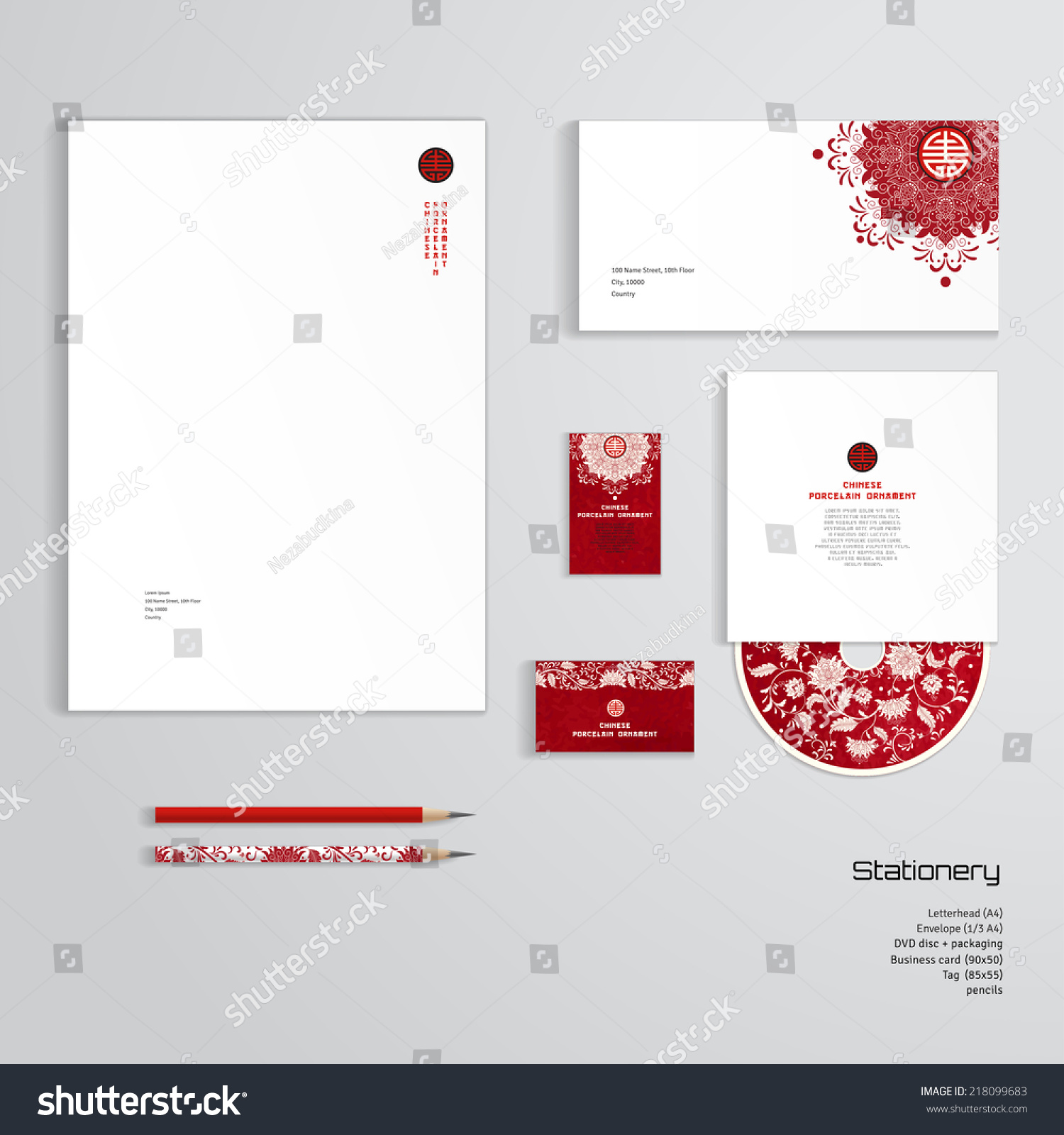 Vector identity templates letterhead envelope business stock vector vector identity templates letterhead envelope business card tag disc with packaging fbccfo Gallery